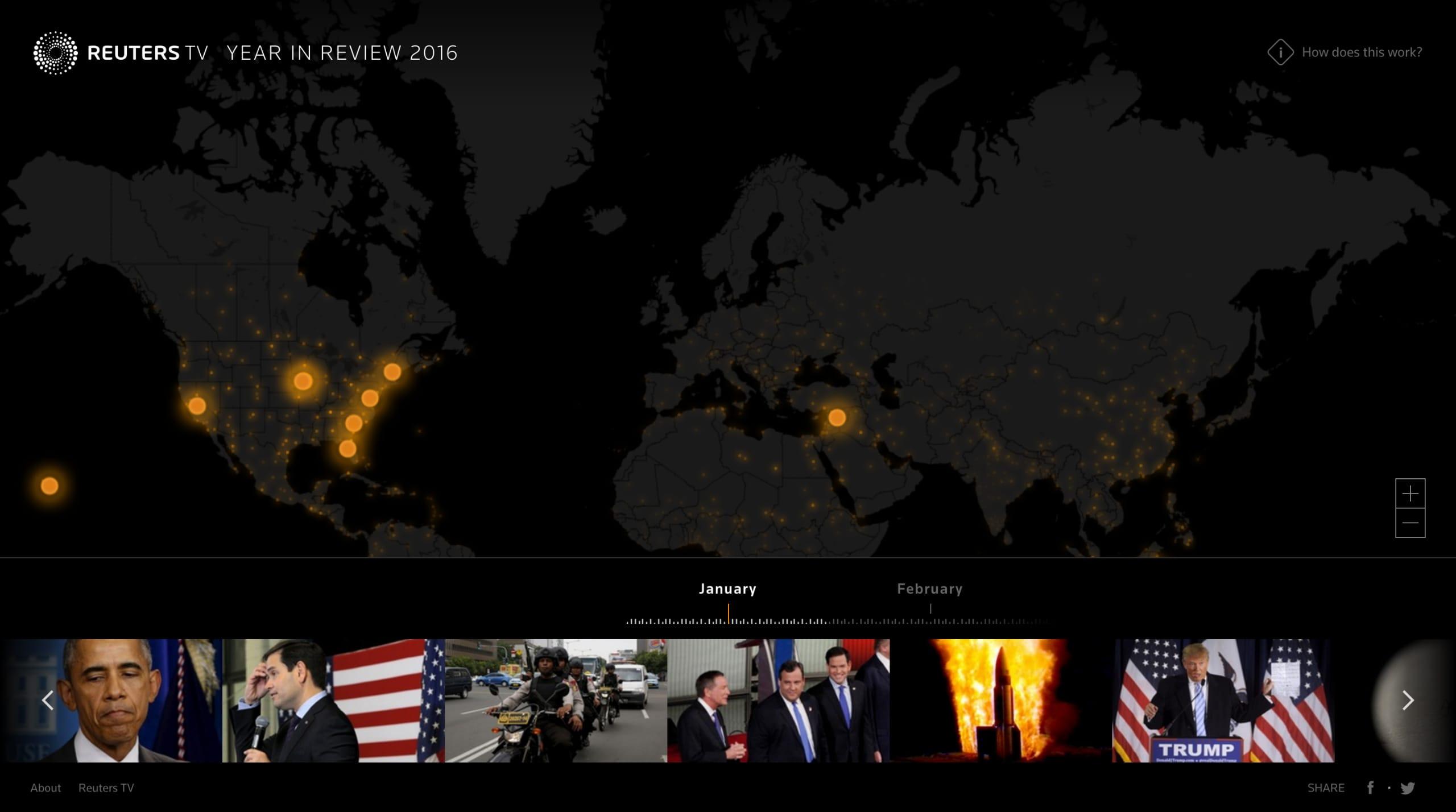 Reuters TV: 2016 Year in Review Website Screenshot
