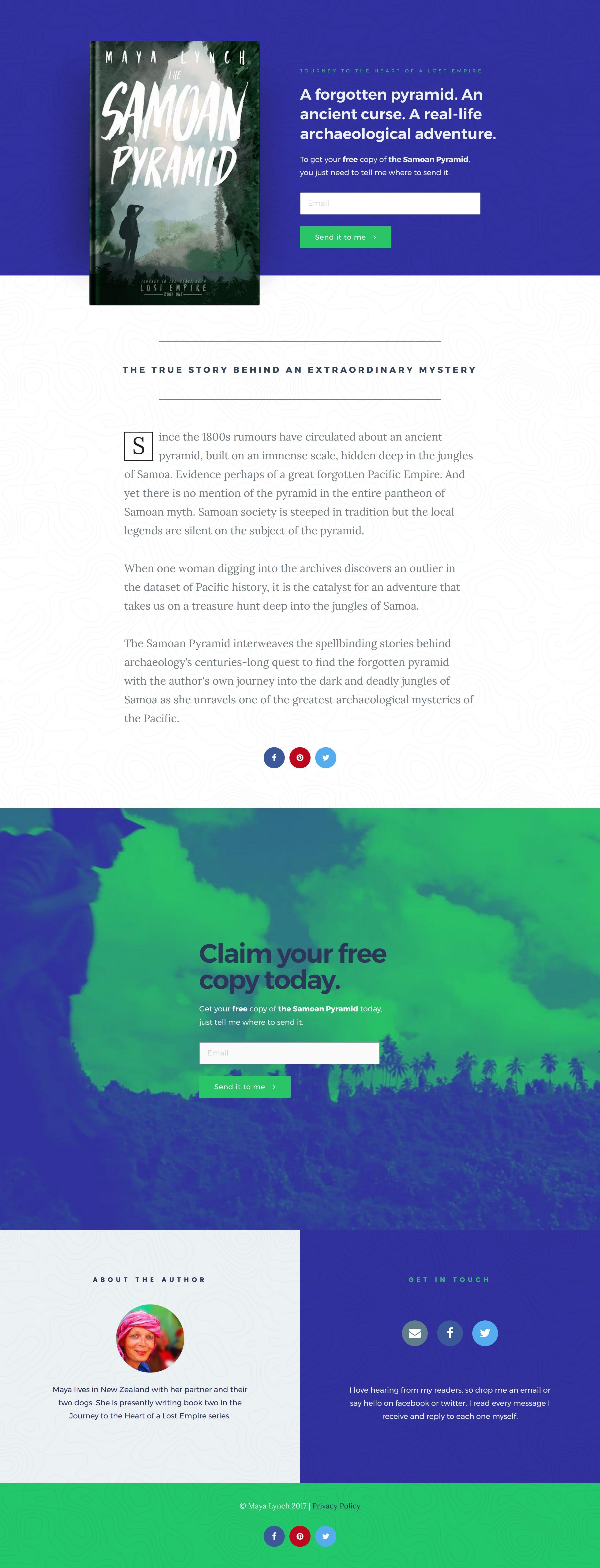 The Samoan Pyramid Website Screenshot