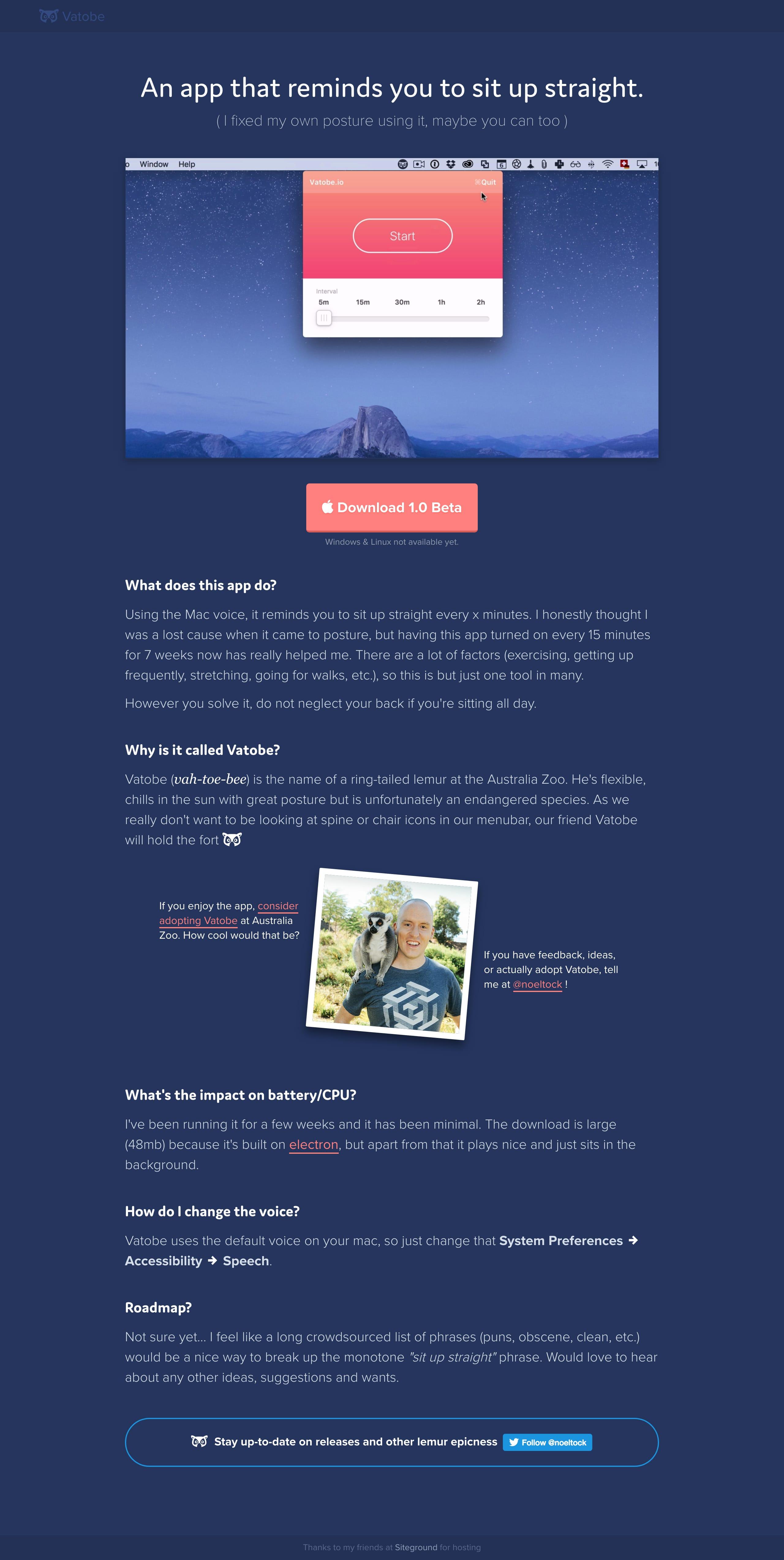 Vatobe Website Screenshot