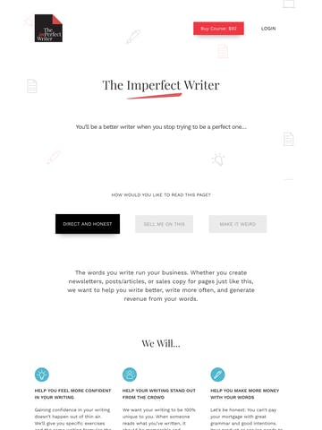 The Imperfect Writer Thumbnail Preview