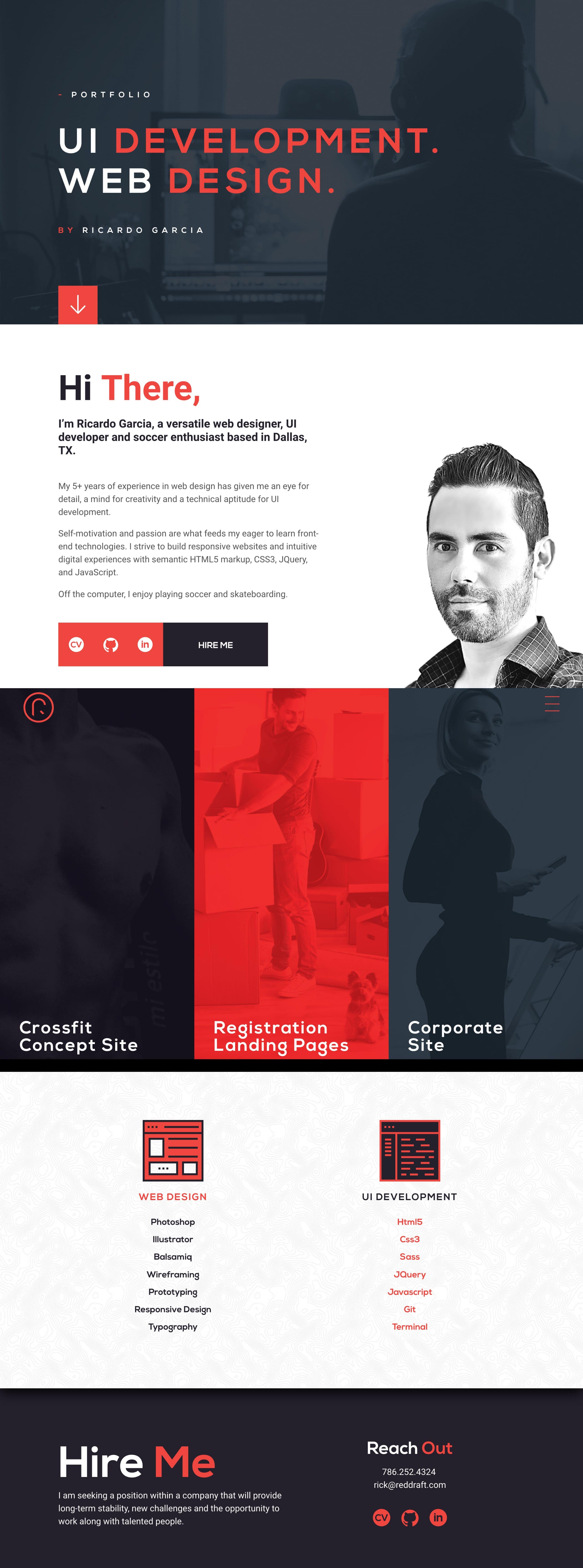 RedDraft Website Screenshot