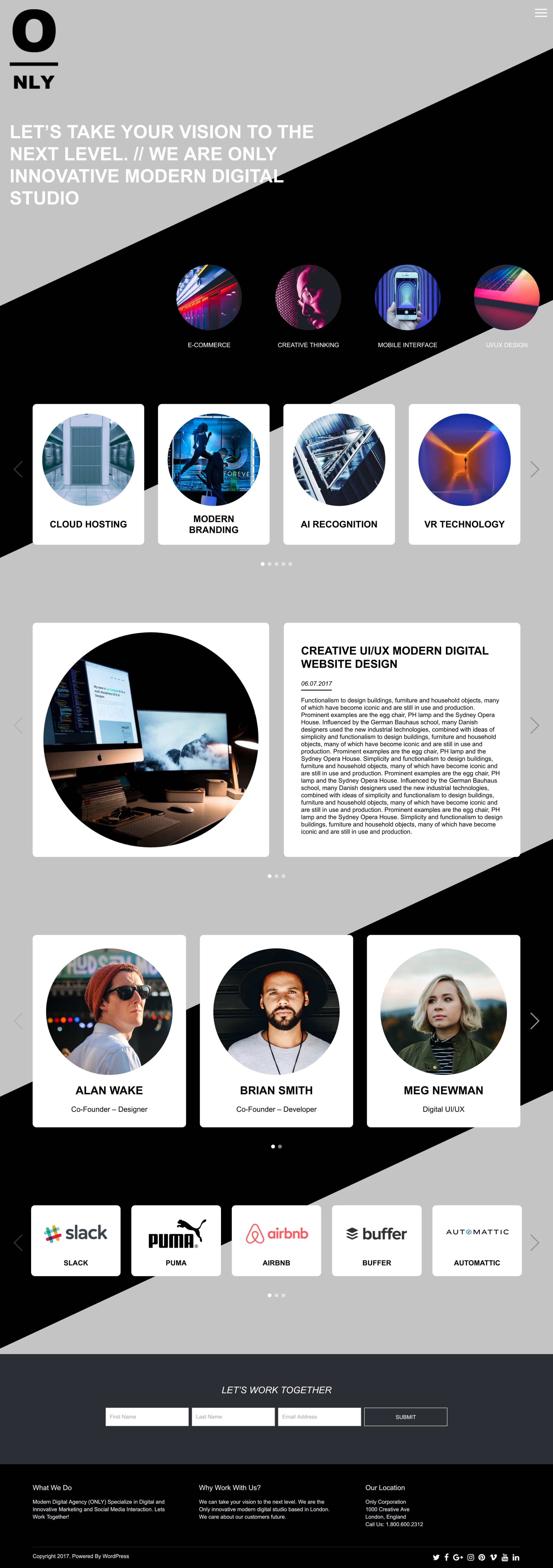 Only Website Screenshot