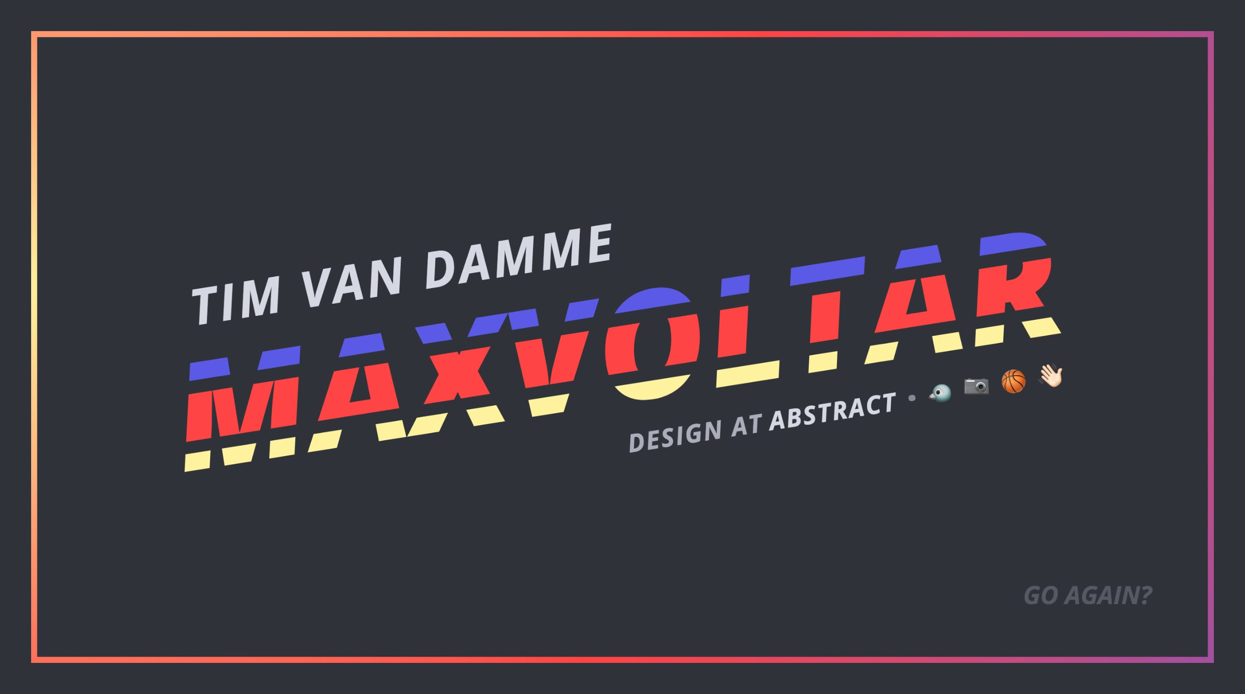 Tim Van Damme Website Screenshot