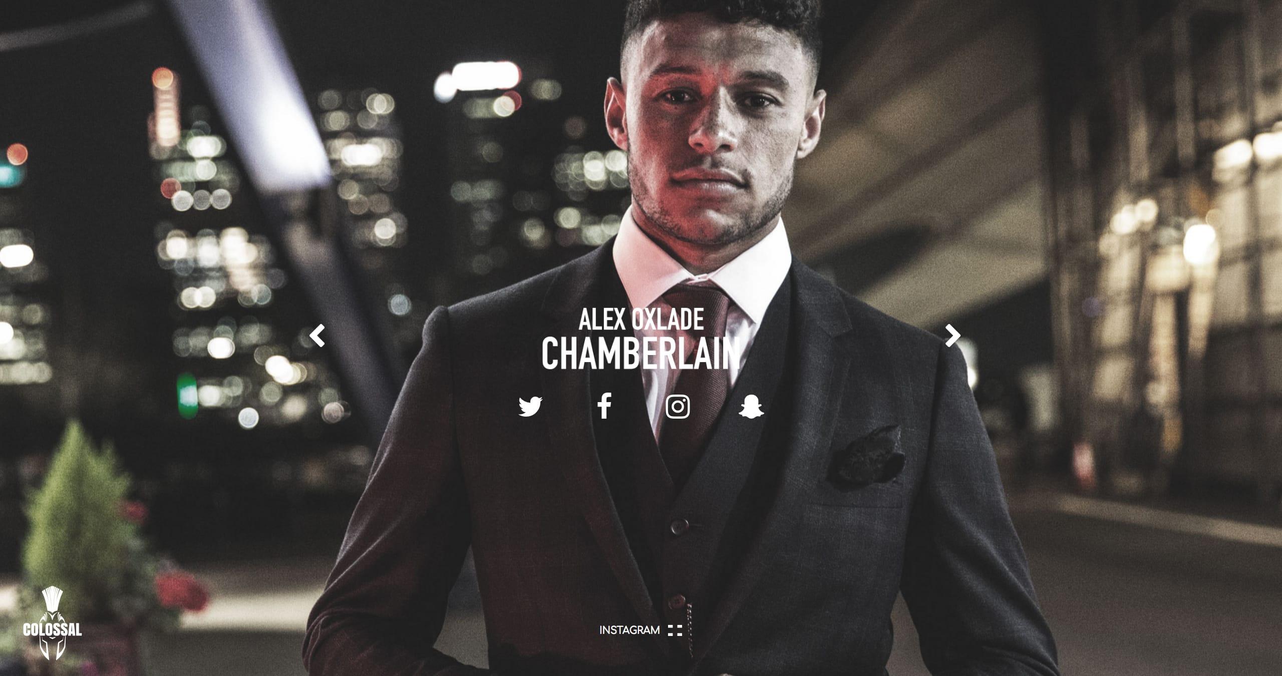 Alex Oxlade-Chamberlain Website Screenshot