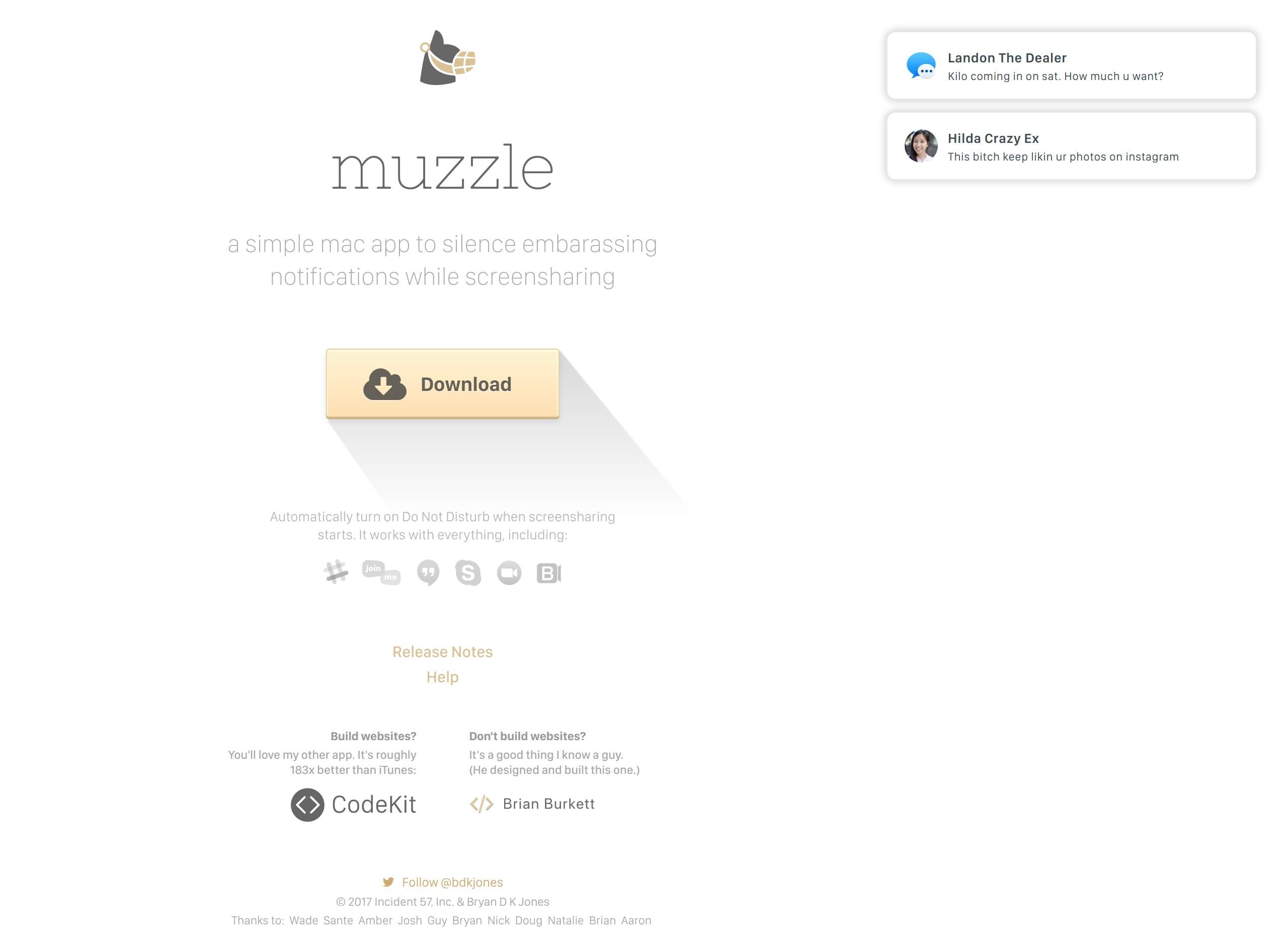 Muzzle Website Screenshot