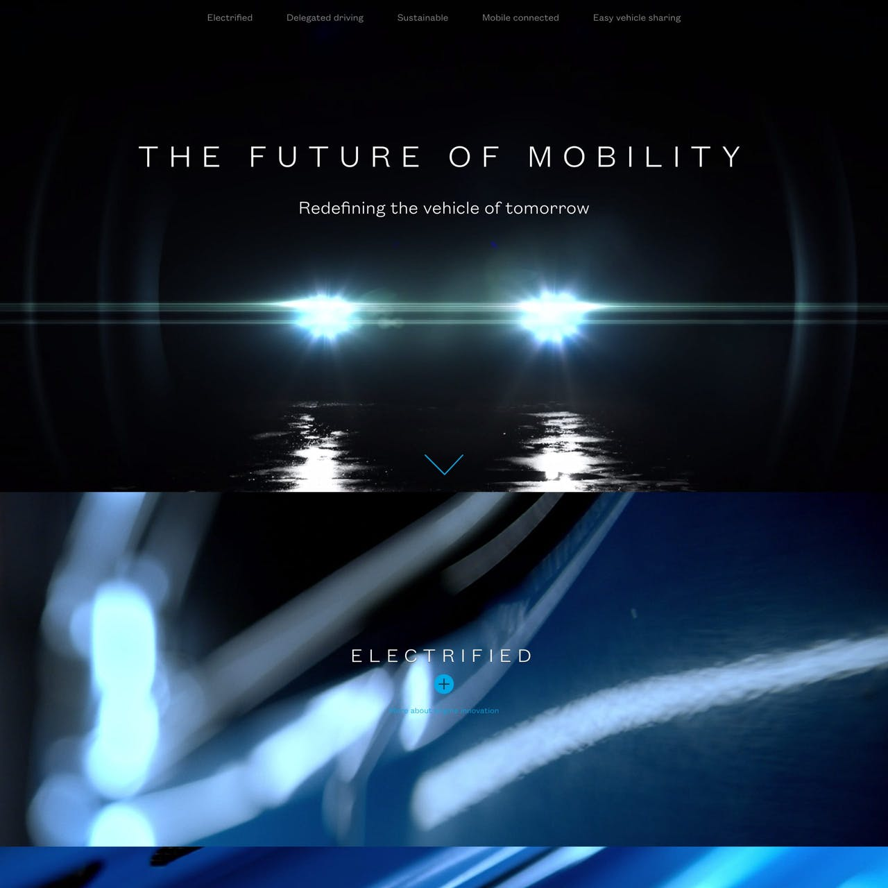 The Future Of Mobility Website Screenshot