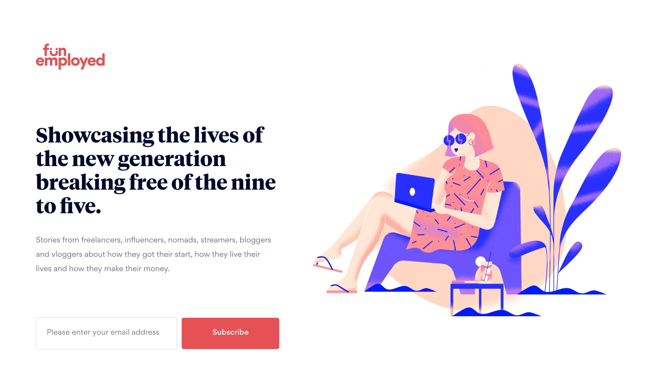 Funemployed Website Screenshot