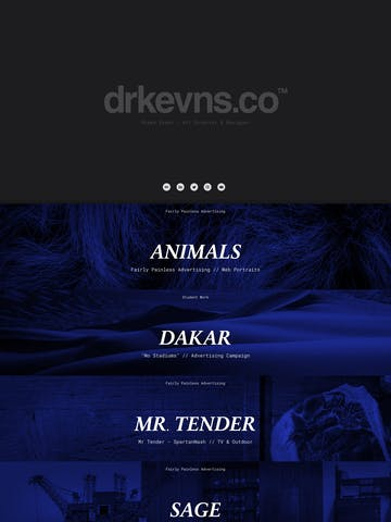 Art Director One Page Websites