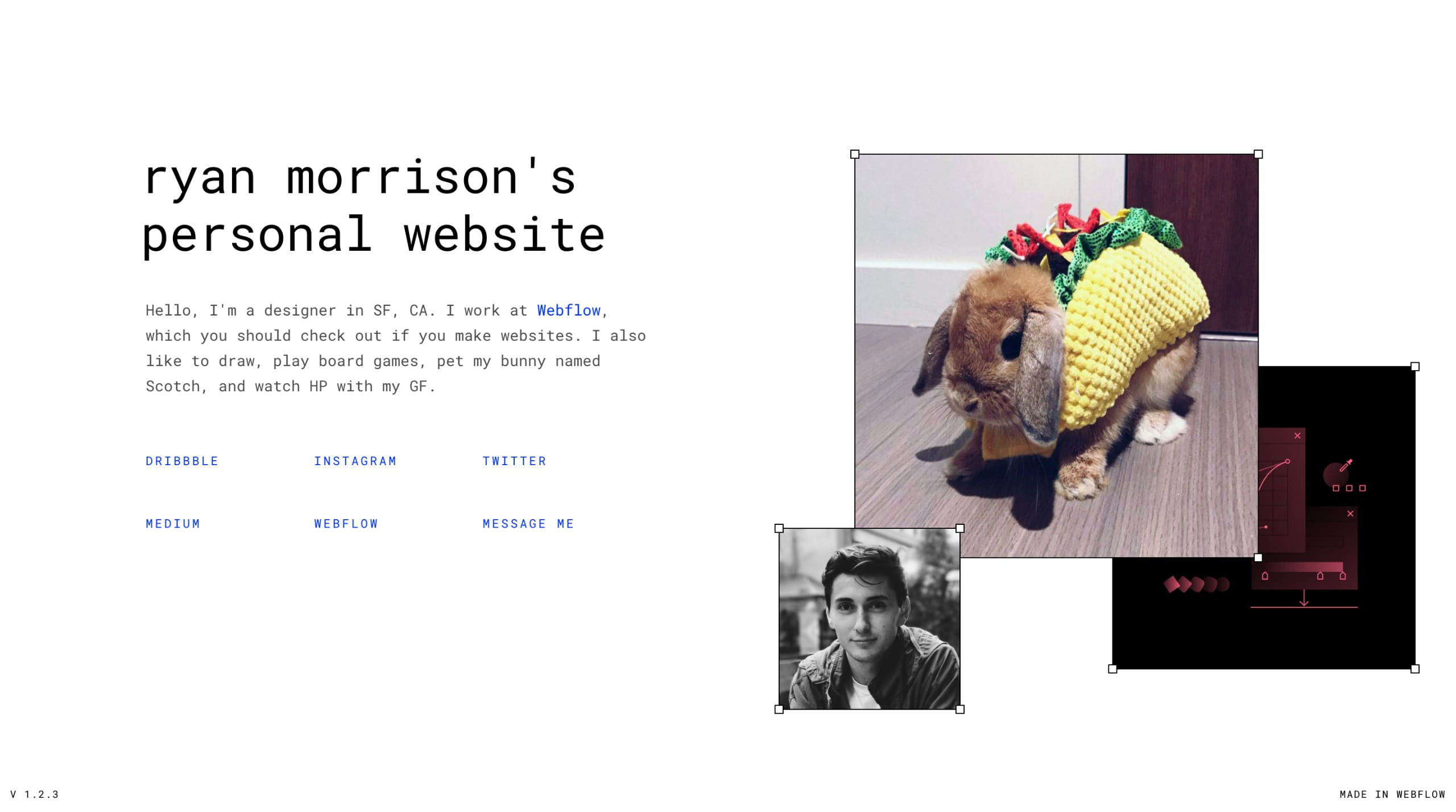 Ryan Morrison Website Screenshot