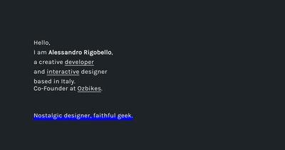 Alessandro Rigobello Thumbnail Preview