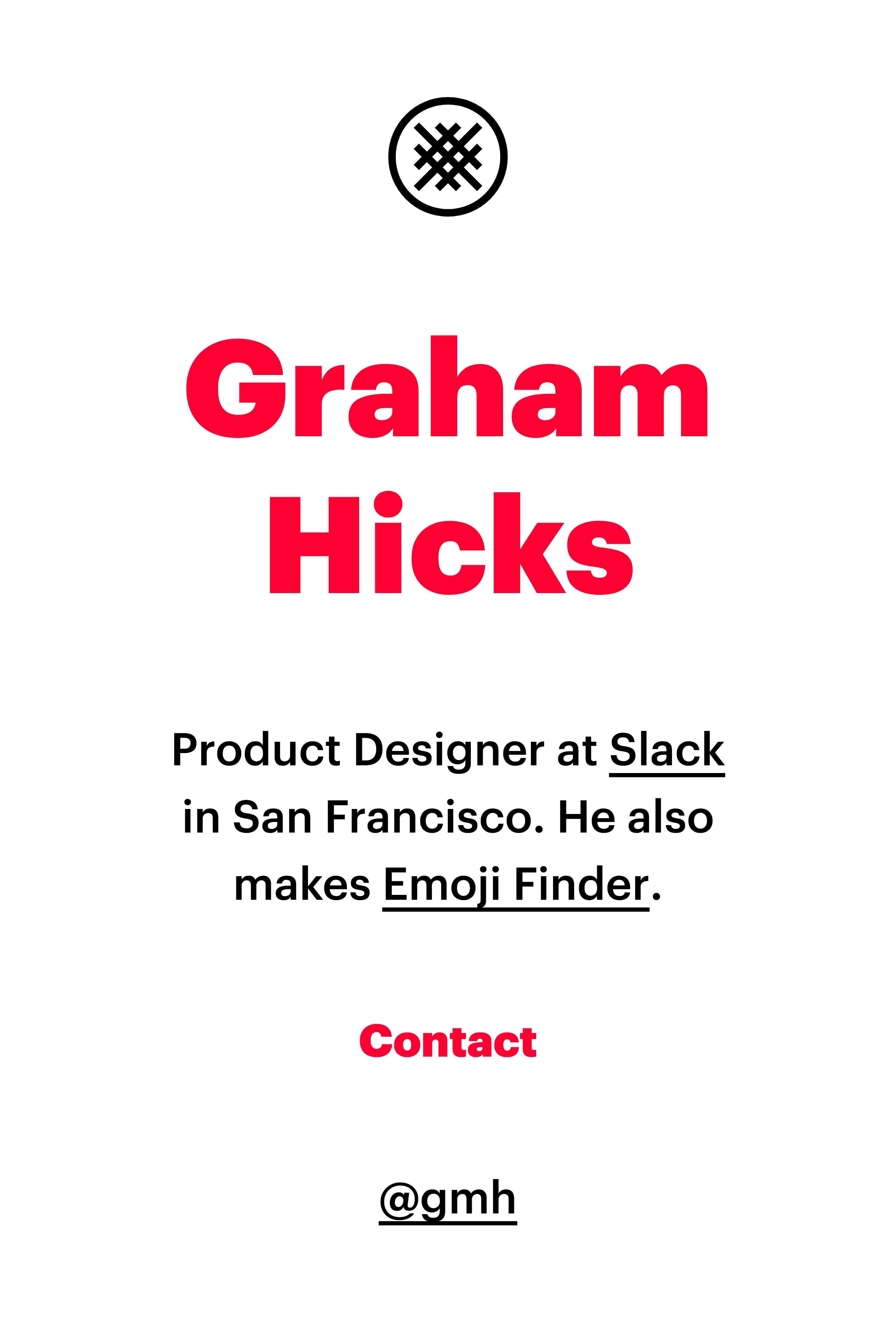 Graham Hicks Website Screenshot