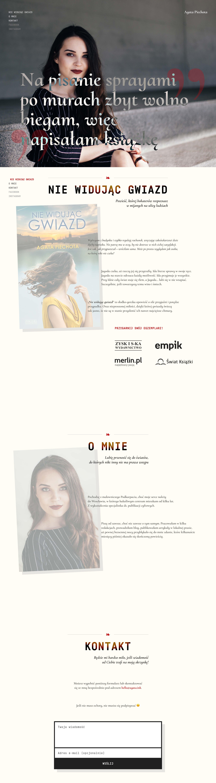 Agata Piechota Website Screenshot