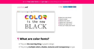 Color Fonts! WTF? Thumbnail Preview
