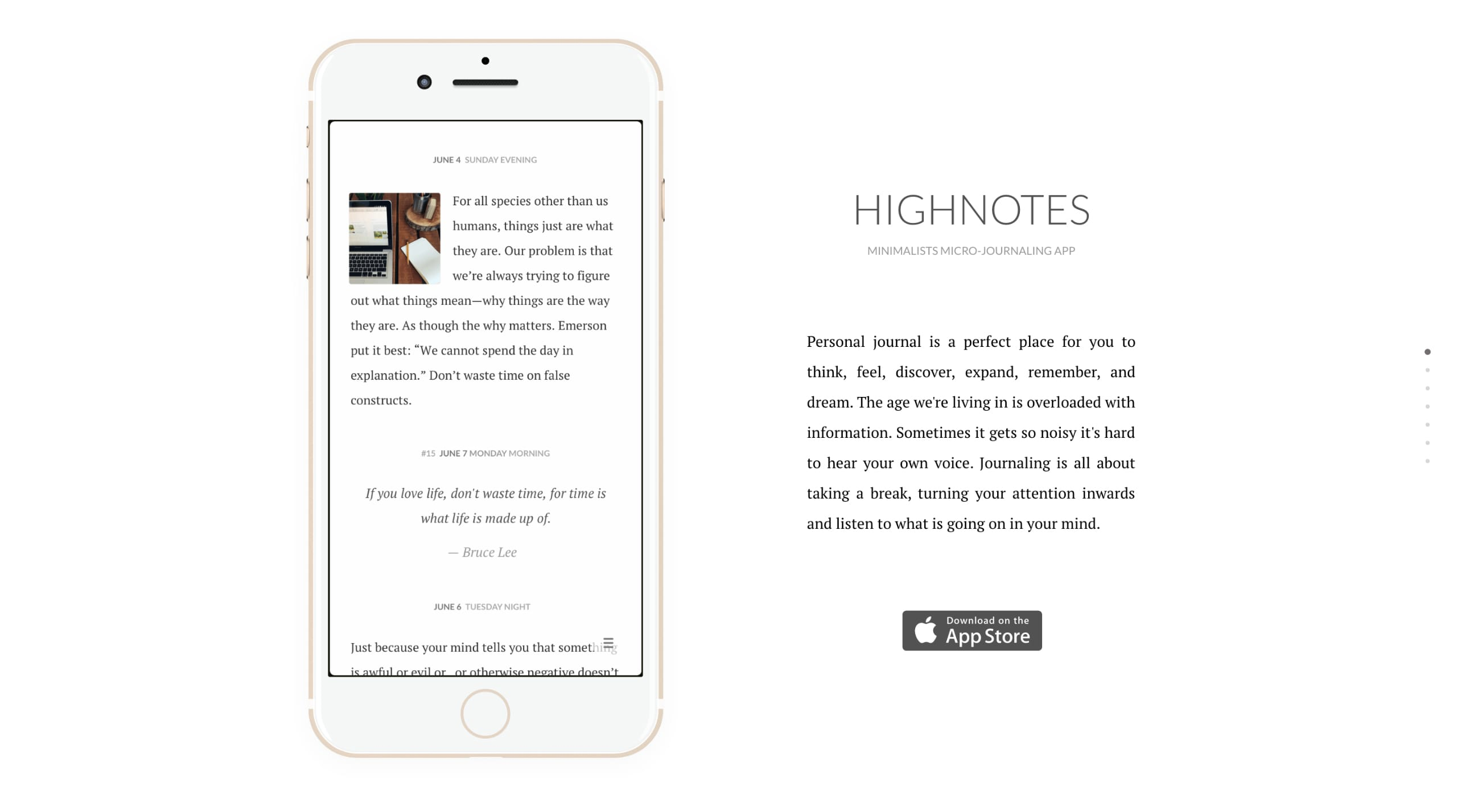 HighNotes Website Screenshot