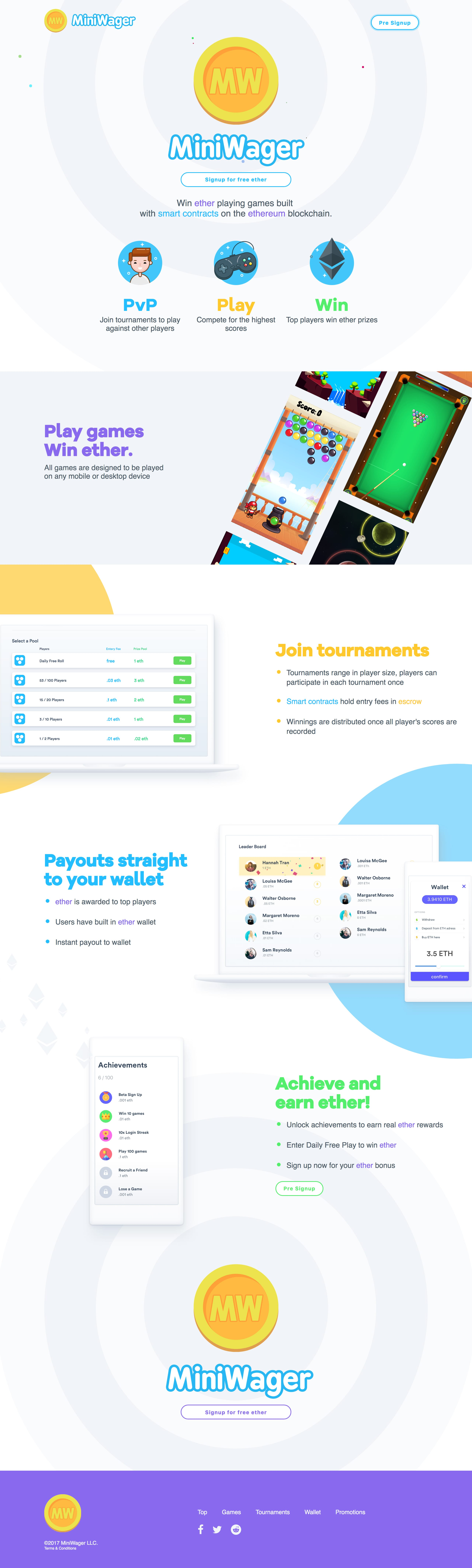 MiniWager Website Screenshot