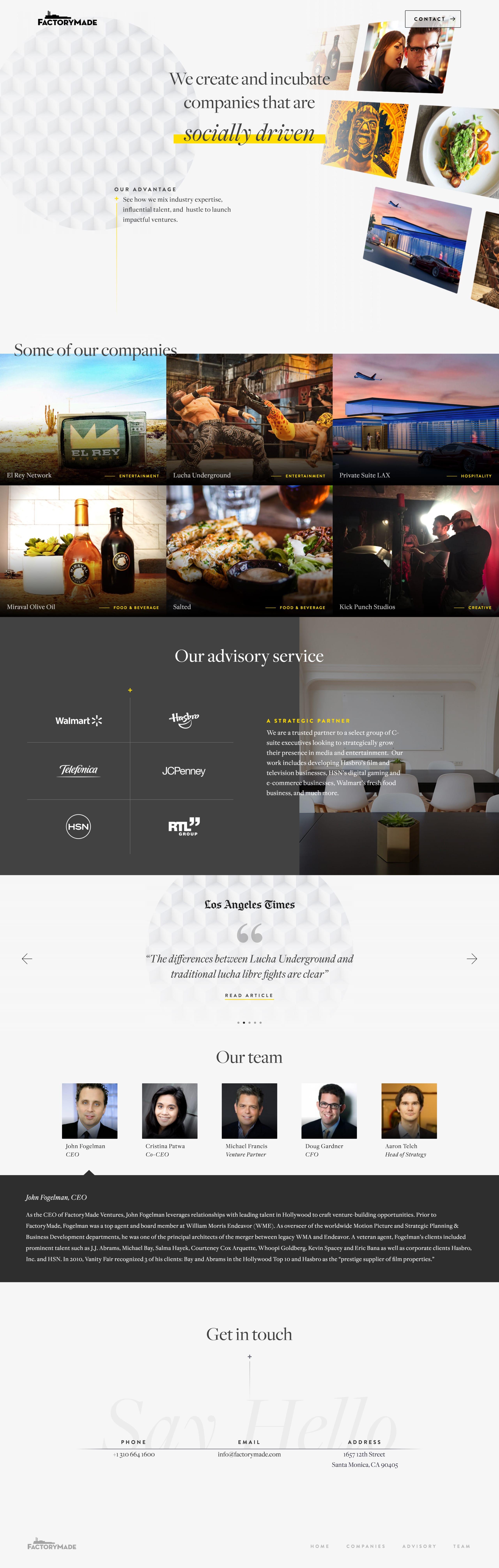FactoryMade Website Screenshot