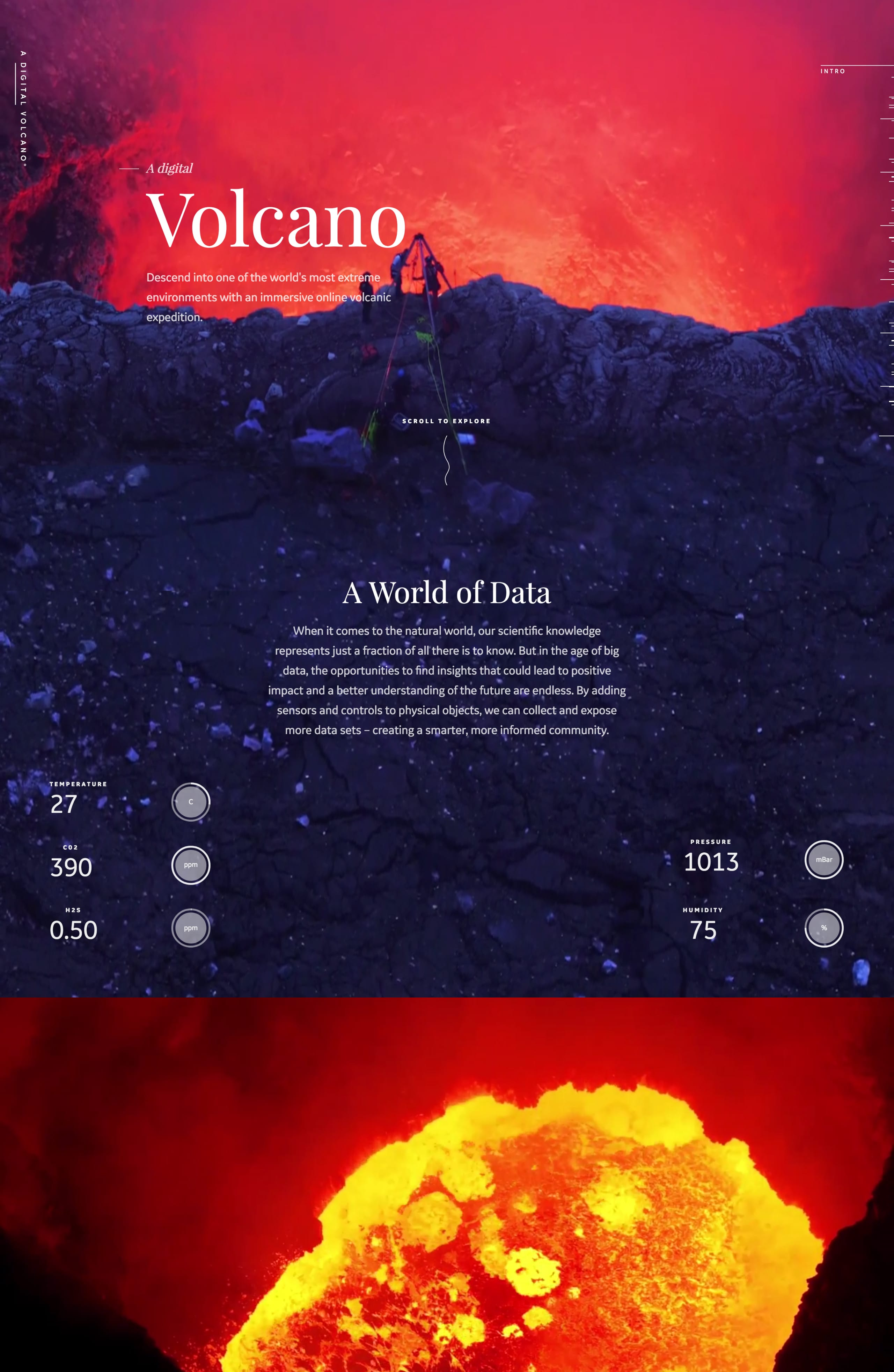 A Digital Volcano Website Screenshot