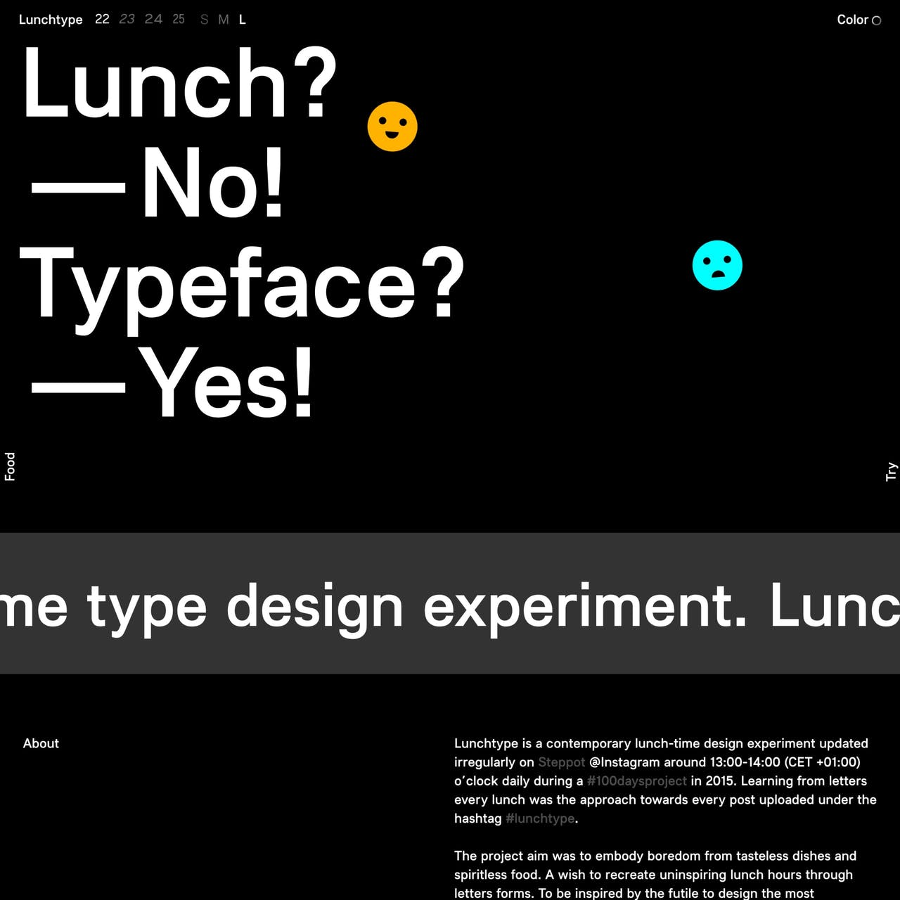 Lunchtype Website Screenshot