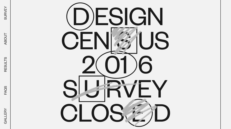 Design Census 2016 Website Screenshot