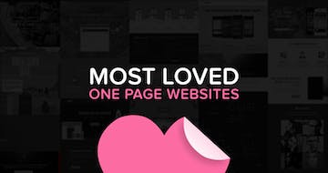 "The ""Most Loved"" One Page Websites from July 2017"