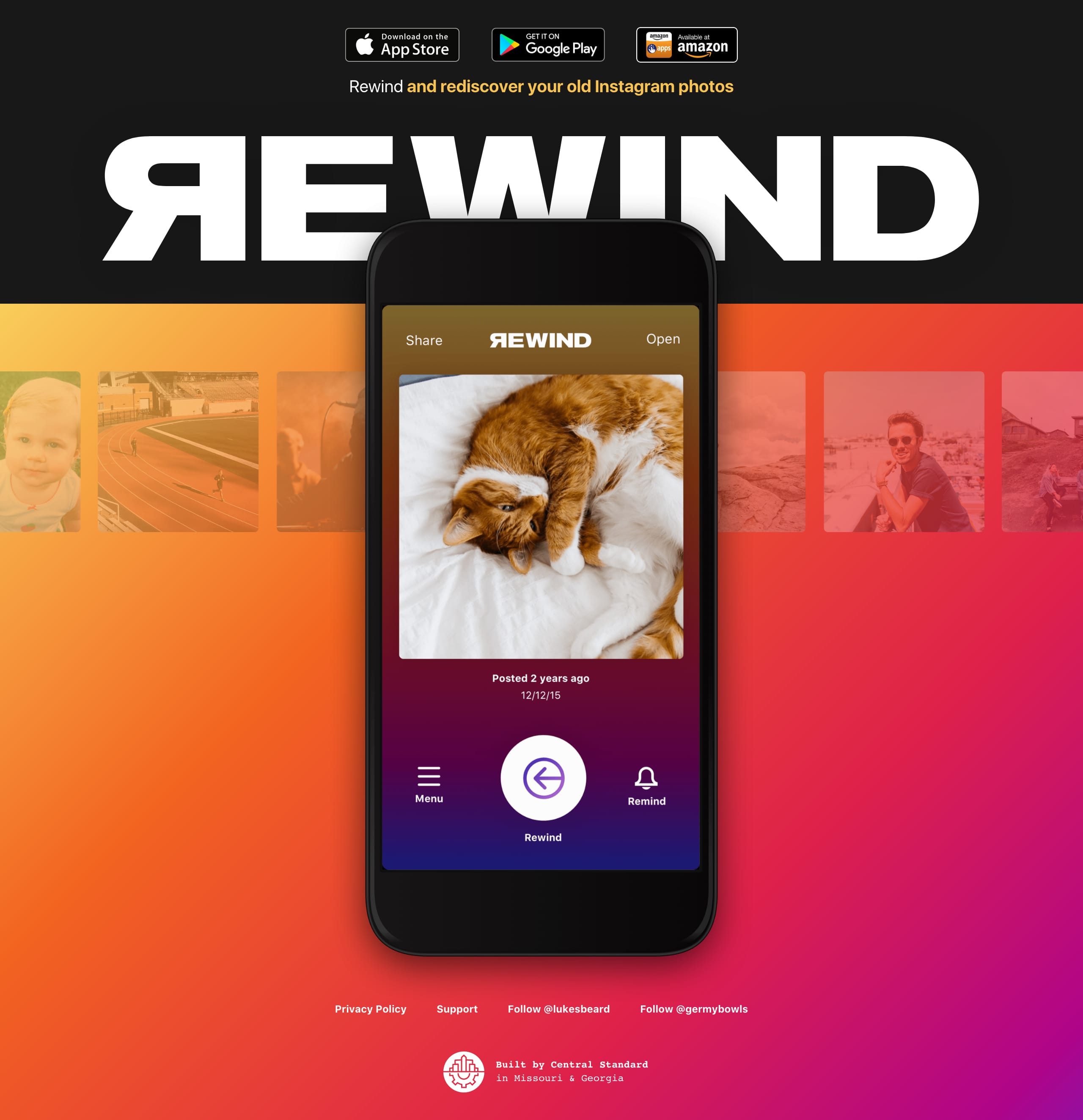 Rewind Website Screenshot