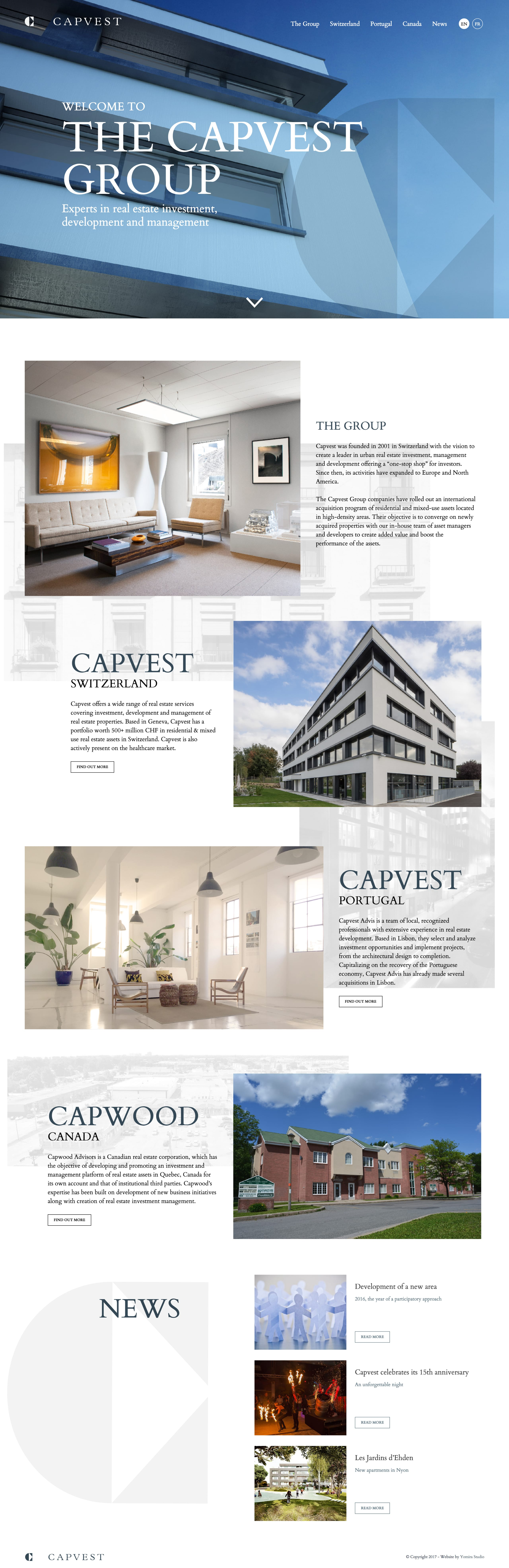 The Capvest Group Website Screenshot