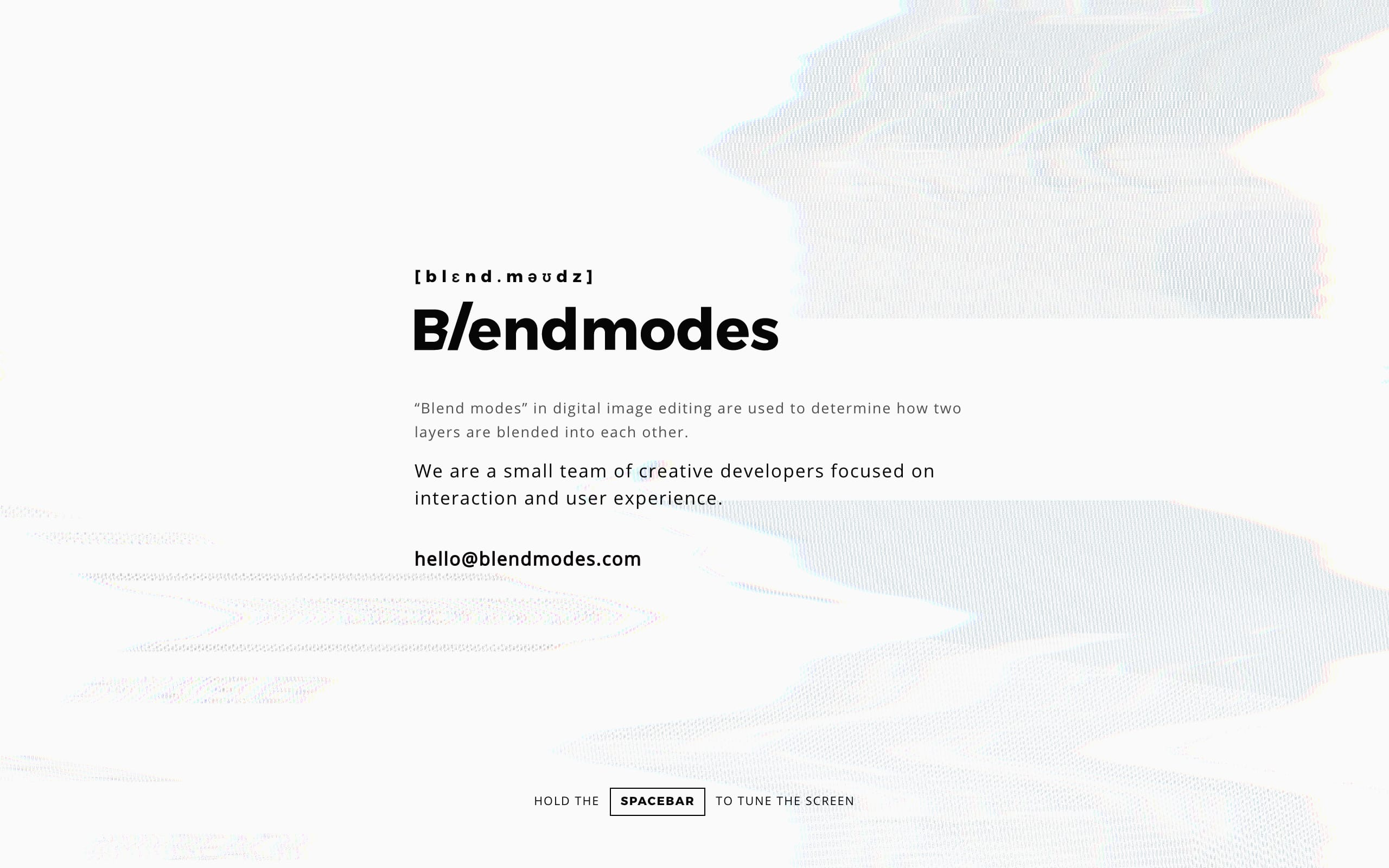 Blendmodes Studio Website Screenshot