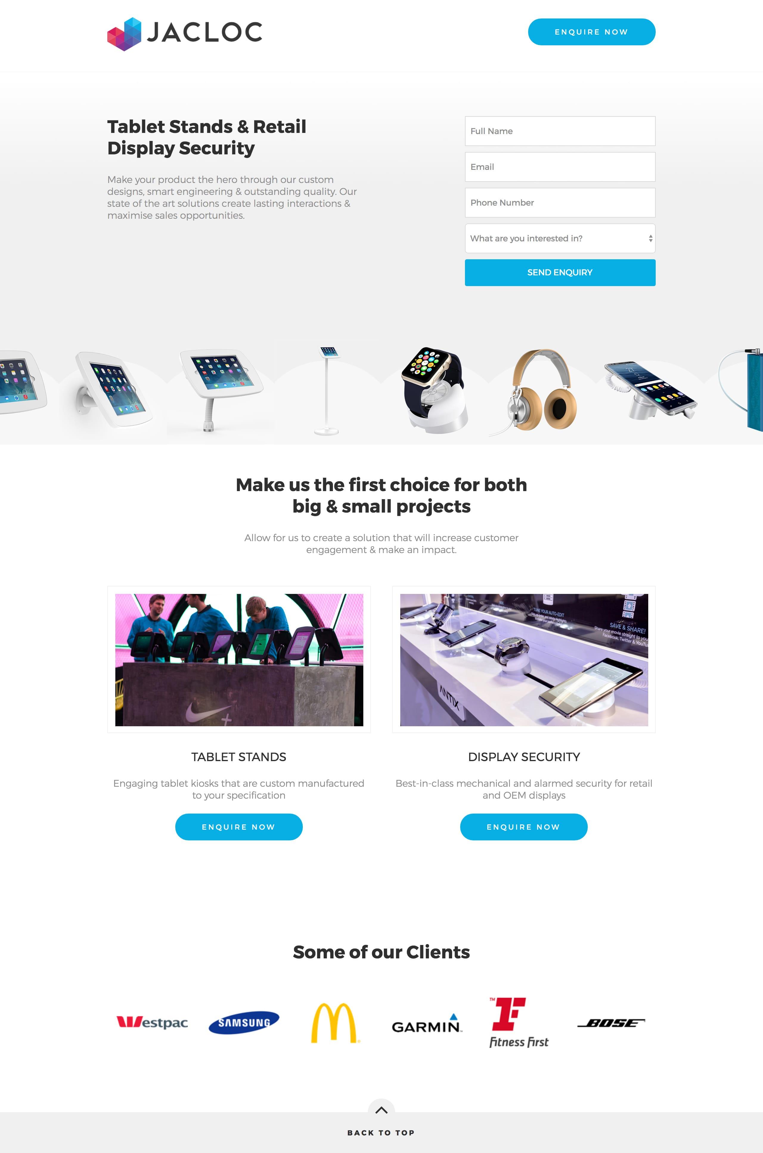Jacloc Website Screenshot