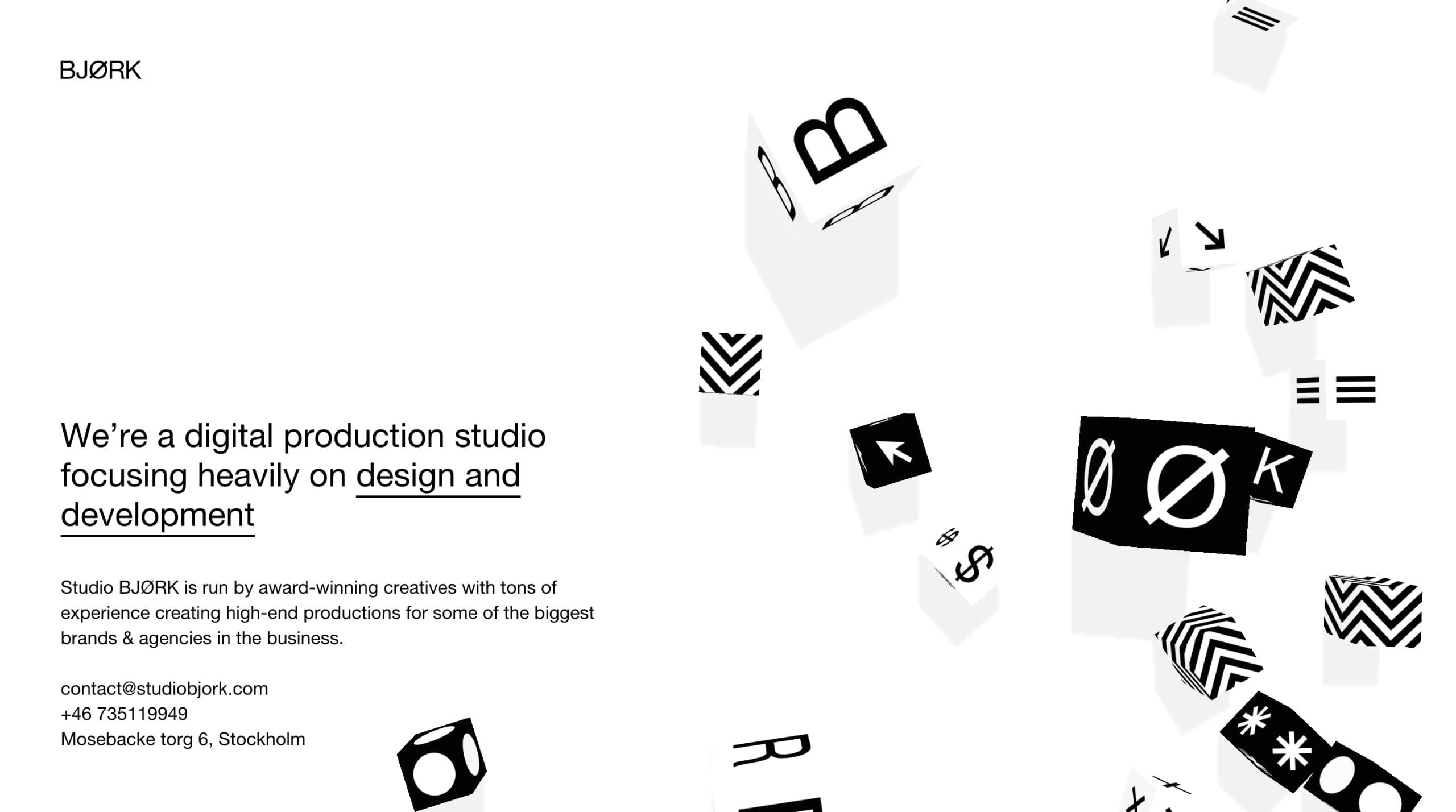 Studio Bjørk Website Screenshot