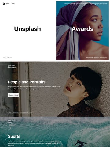 Unsplash Awards 2017 Thumbnail Preview