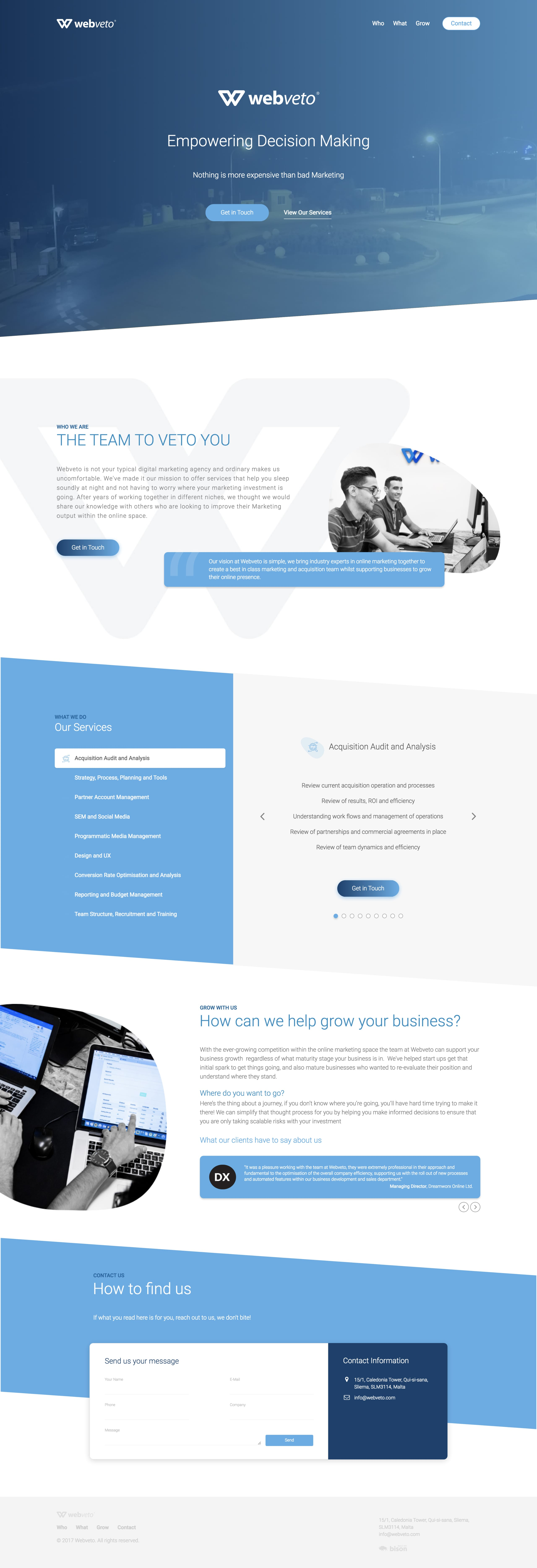 Webveto Website Screenshot