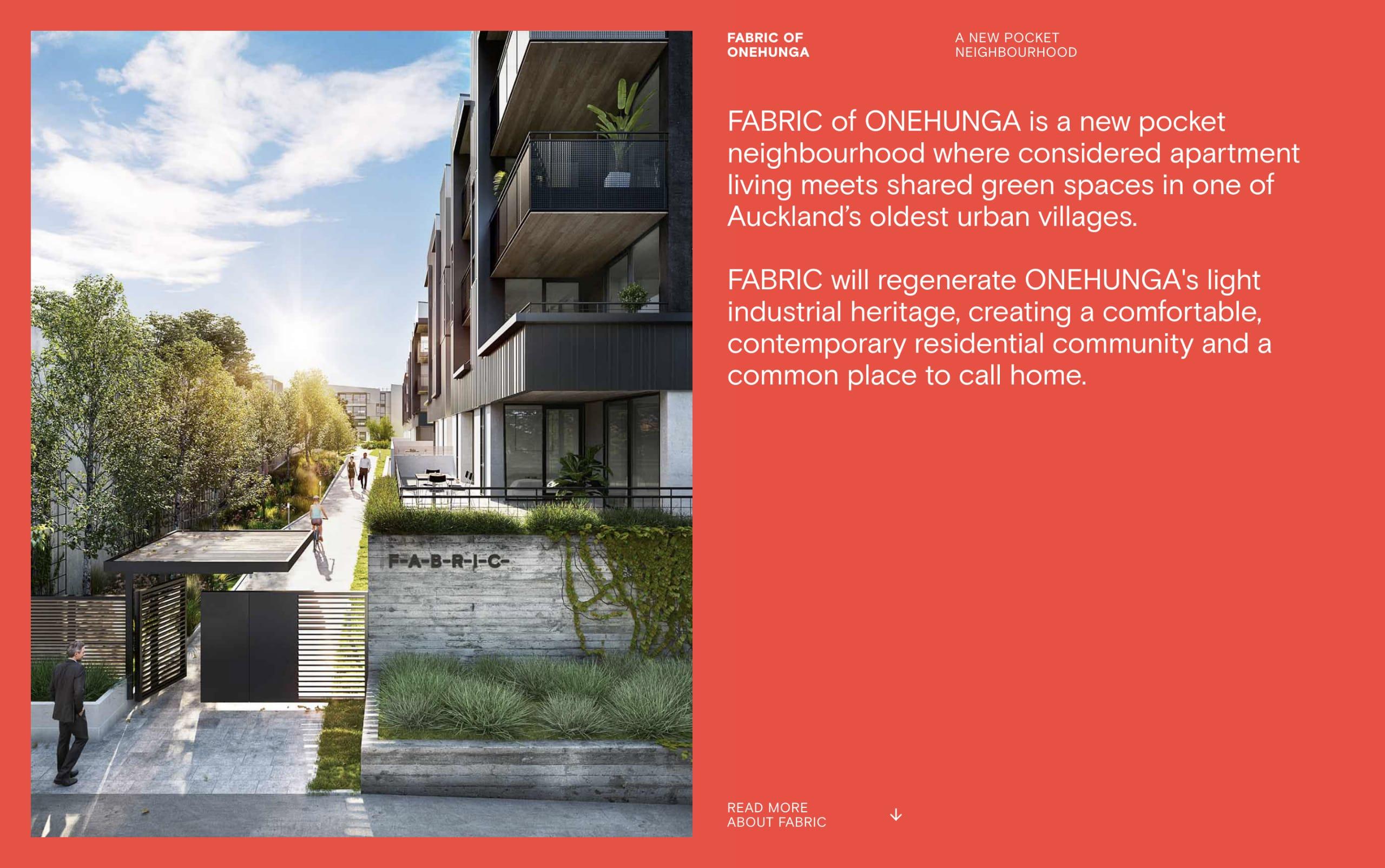 Fabric of Omehunga Website Screenshot