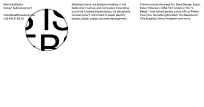 Matthias Deckx Thumbnail Preview