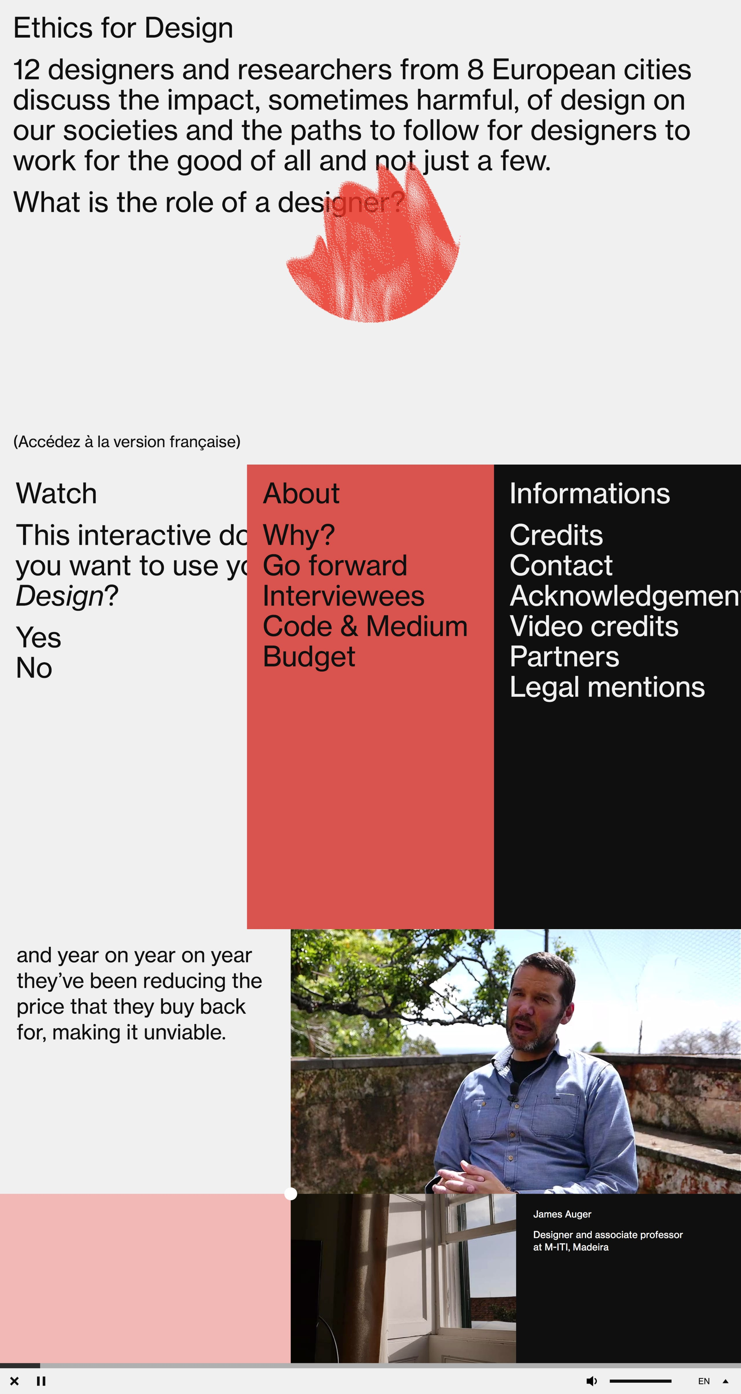 Ethics for Design Website Screenshot