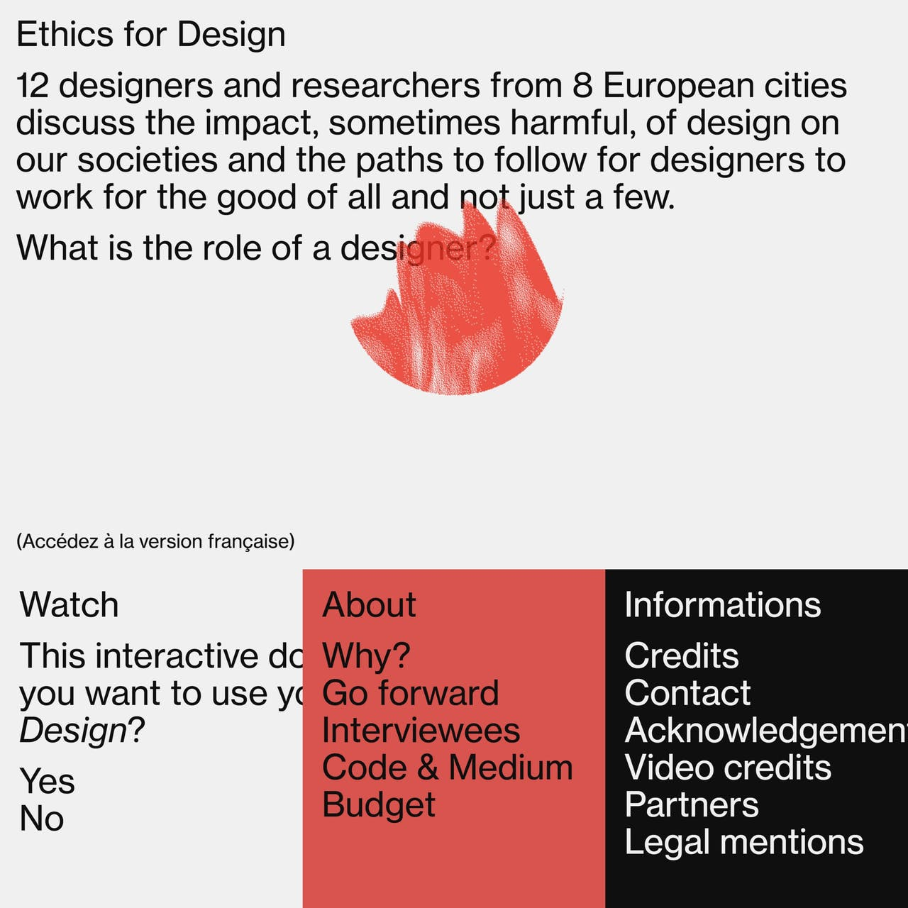 Ethics for Design Website Screenshot