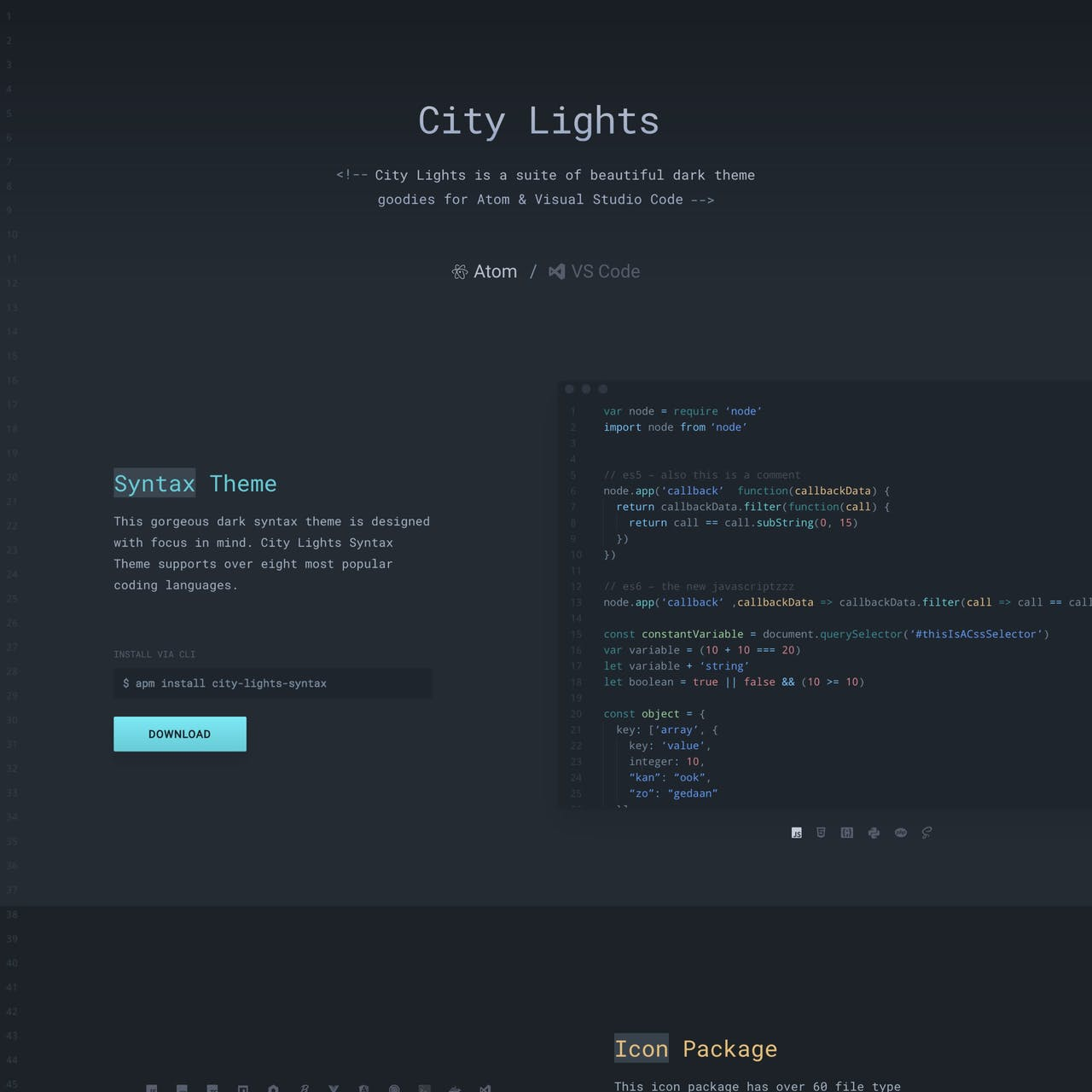 City Lights Website Screenshot