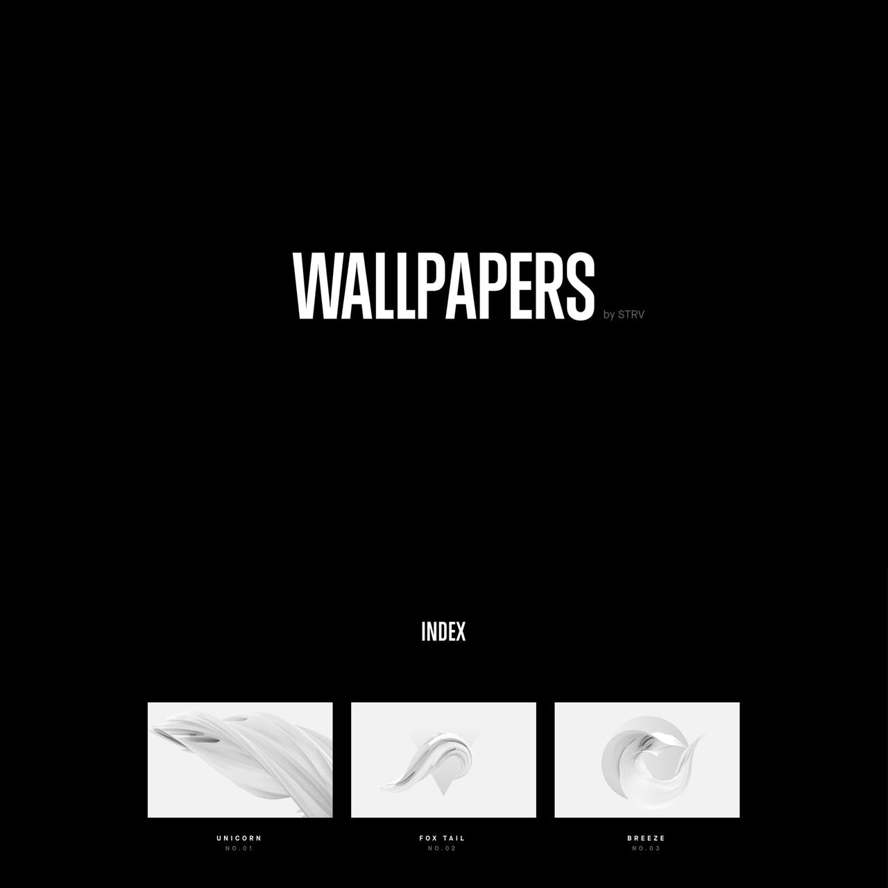 Wallpapers by STRV Website Screenshot