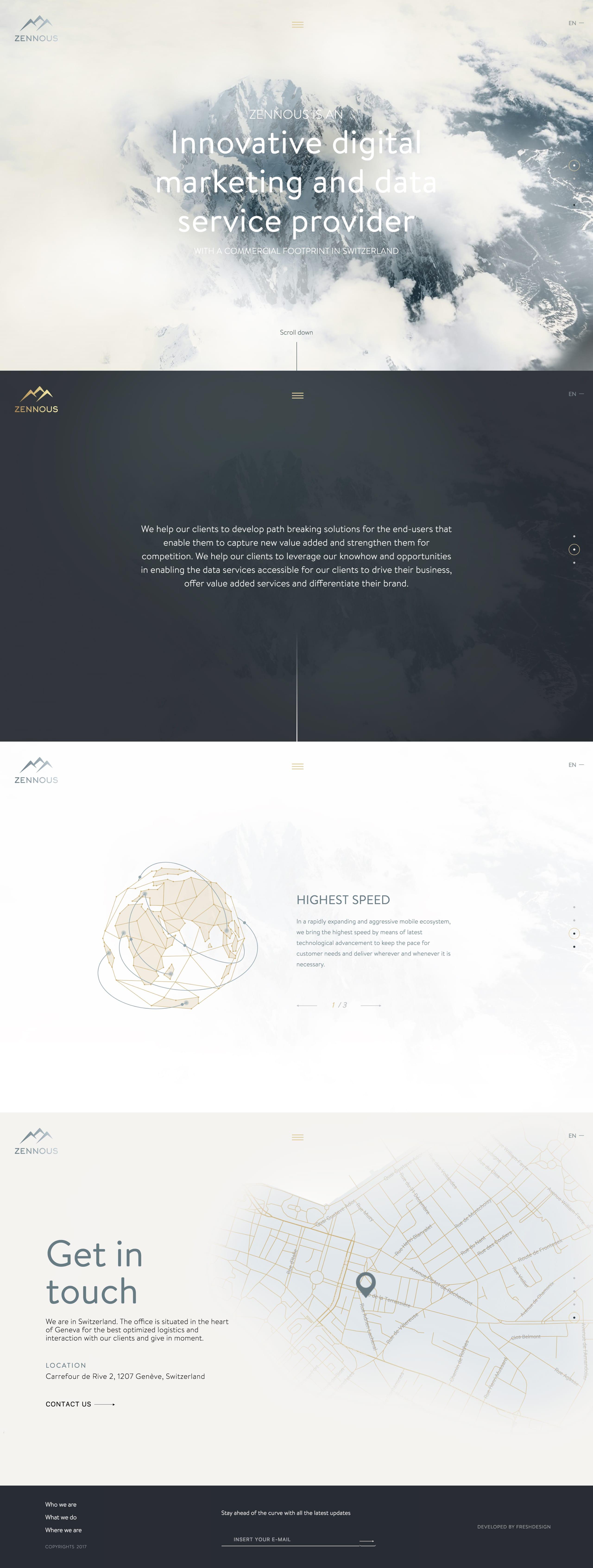 Zennous Innovation Website Screenshot