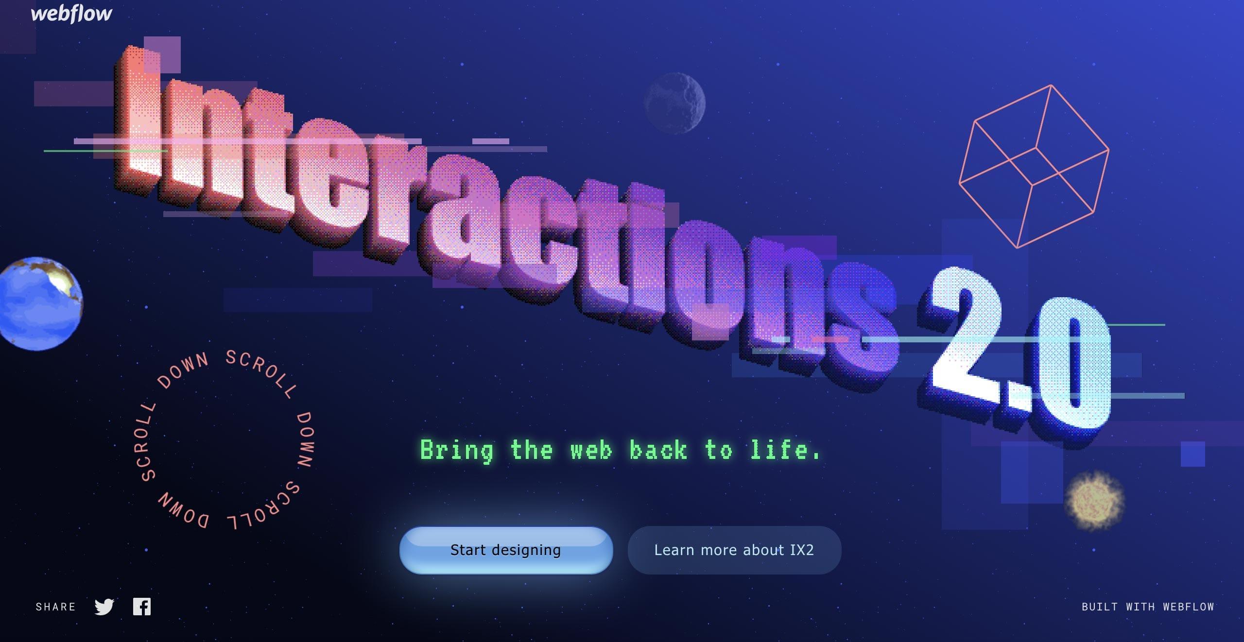Interactions 2.0 Website Screenshot