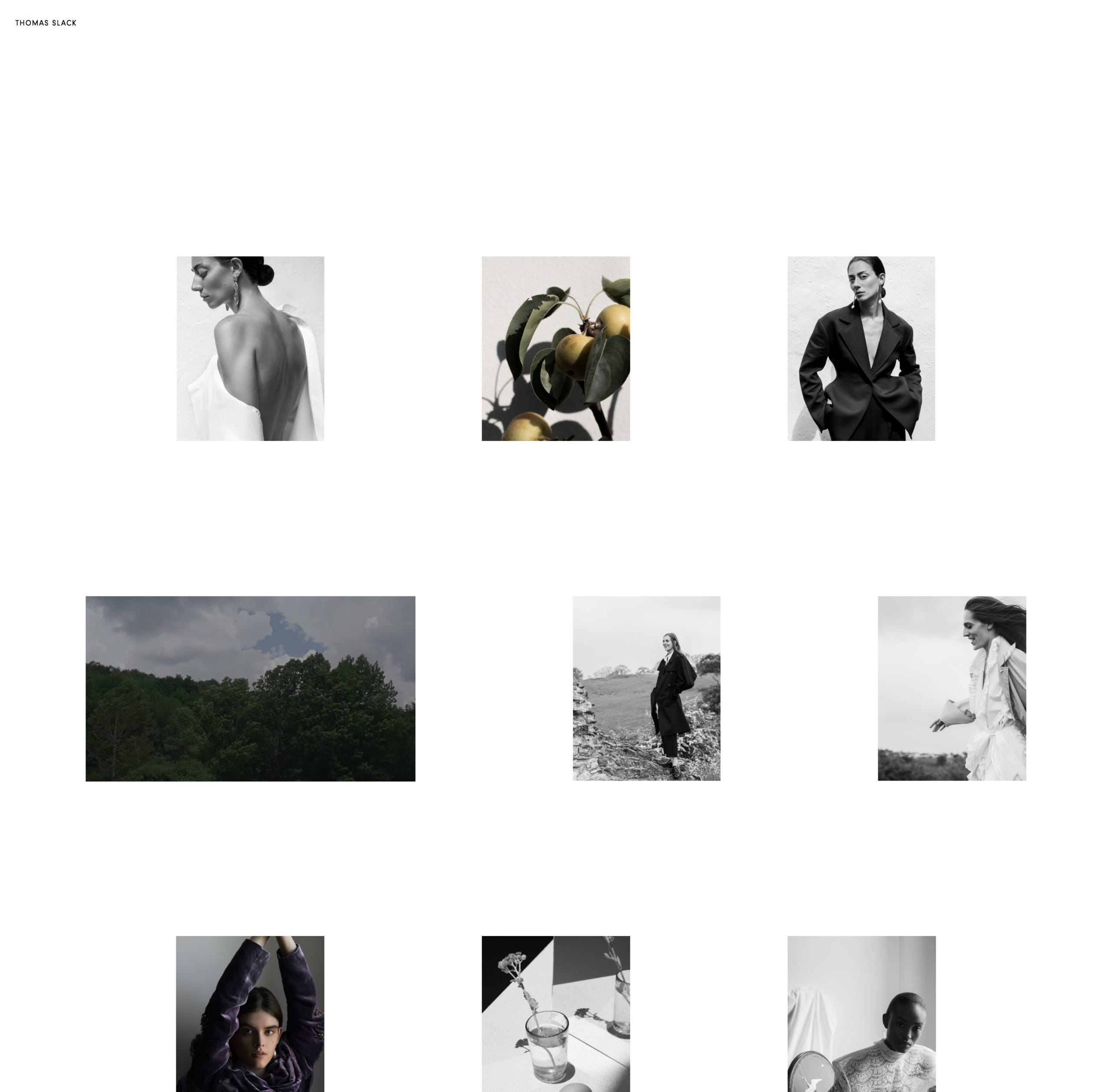 Thomas Slack Website Screenshot
