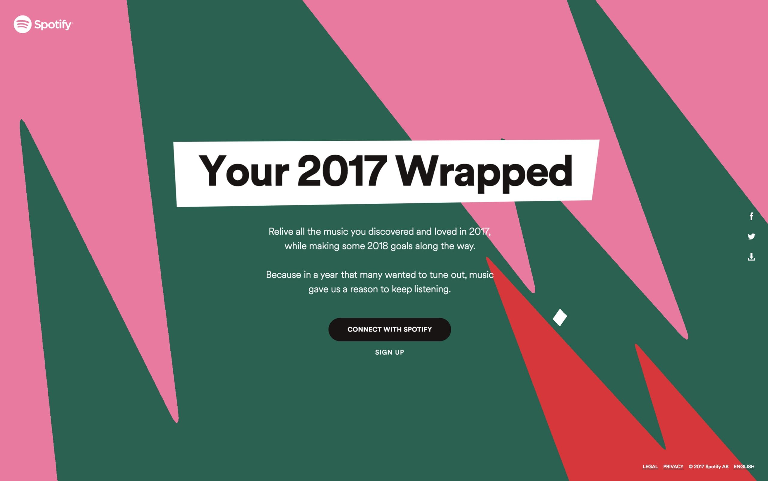 Your 2017 Wrapped Website Screenshot