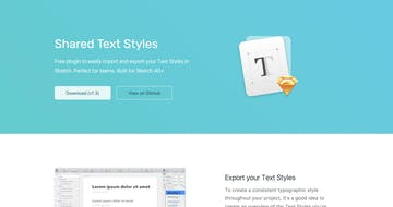 Shared Text Styles Thumbnail Preview