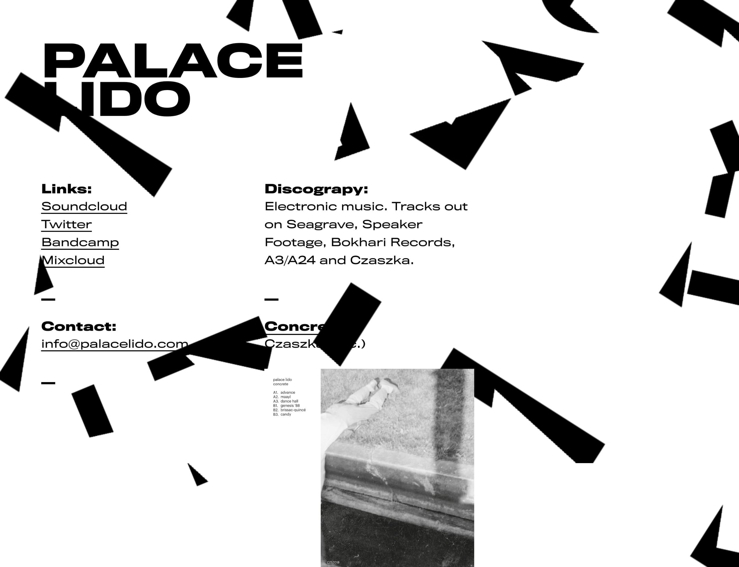 Palace Lido Website Screenshot