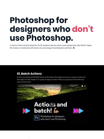 Photoshop for designers who don't use Photoshop. Thumbnail Preview