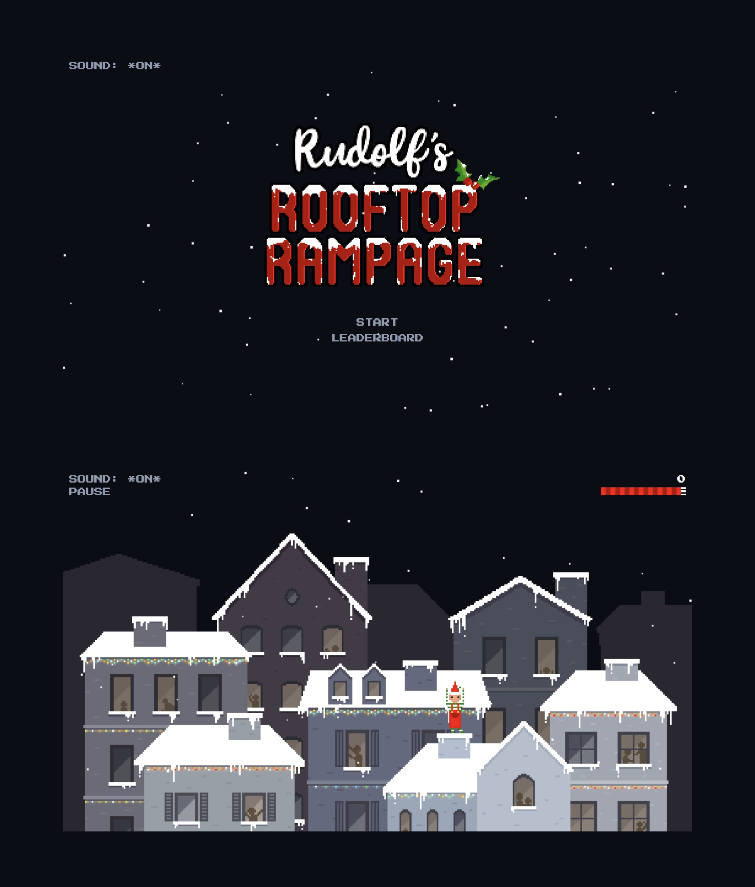 Rudolf's Rooftop Rampage Website Screenshot