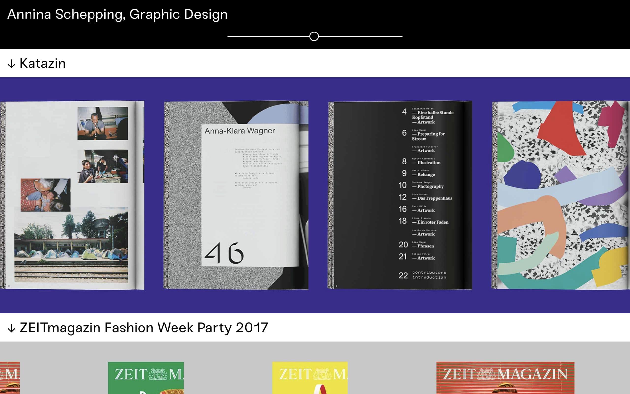 Annina Schepping Website Screenshot