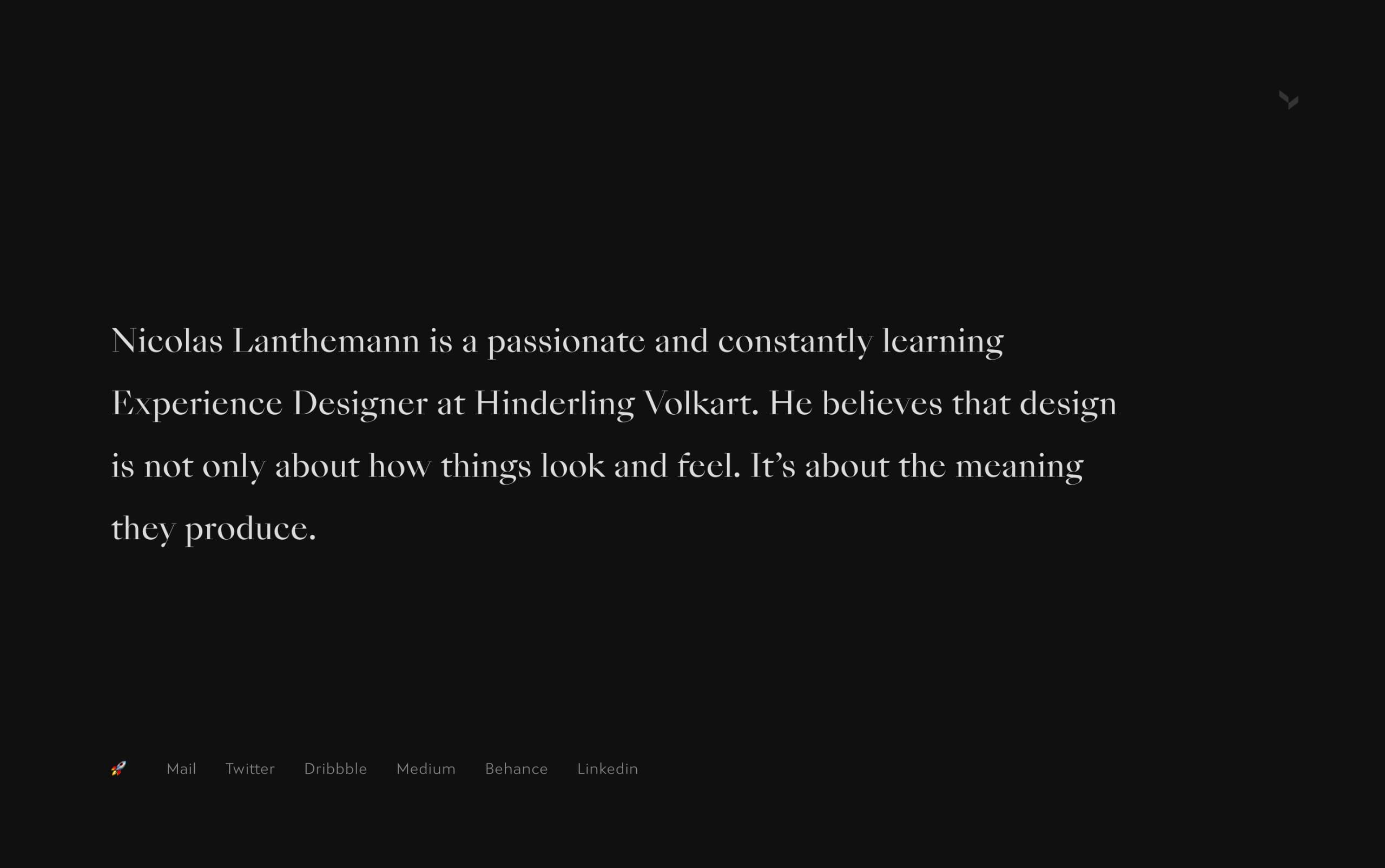 Nicolas Lanthemann Website Screenshot
