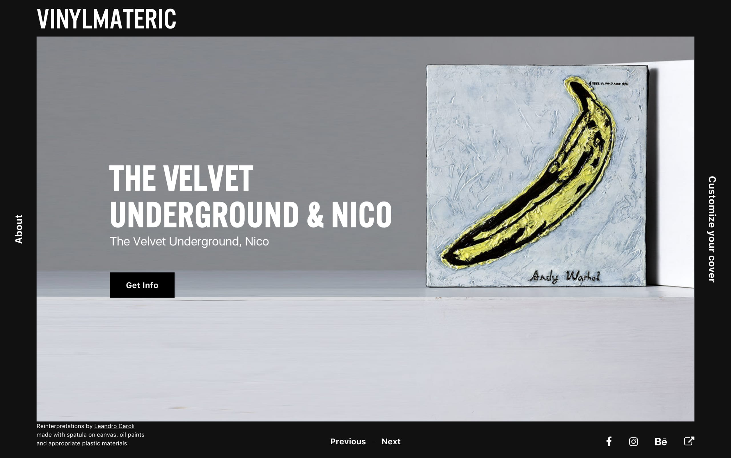 VinylMateric Website Screenshot