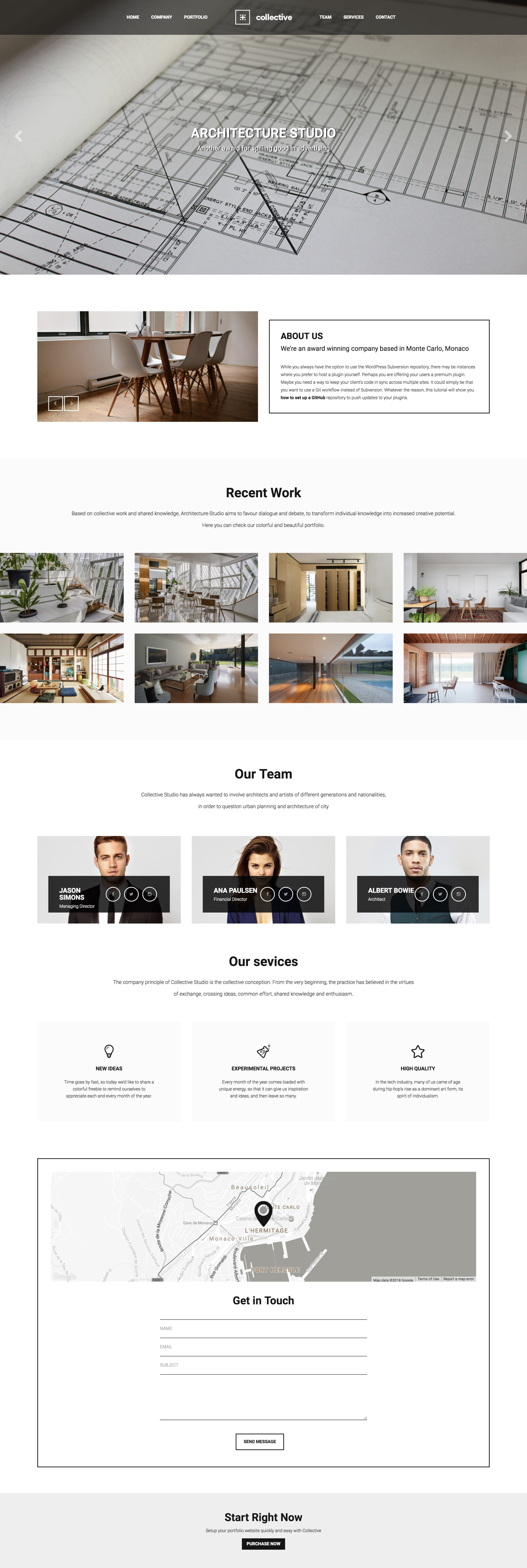 Collective Website Screenshot