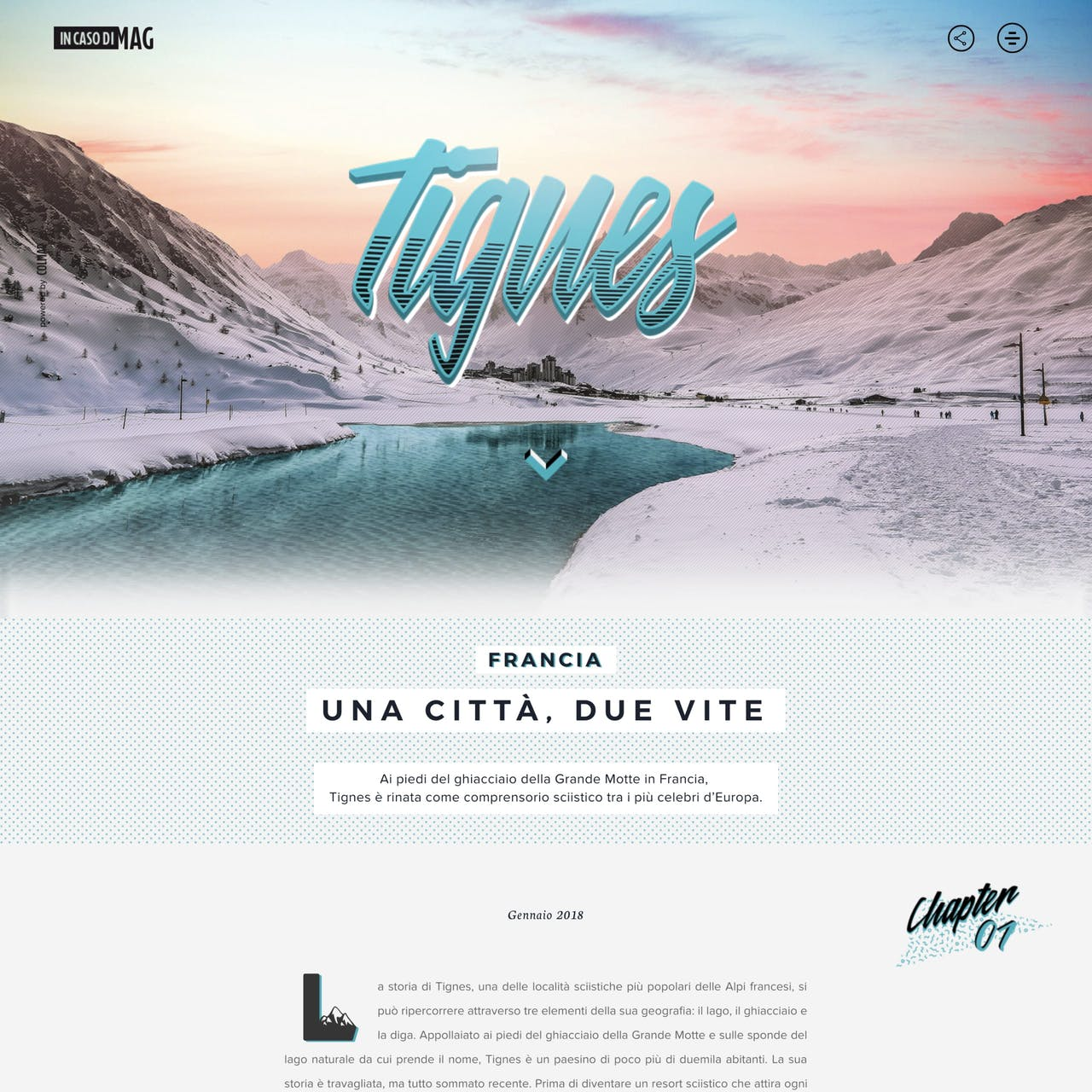 Tignes – In caso di MAG Website Screenshot
